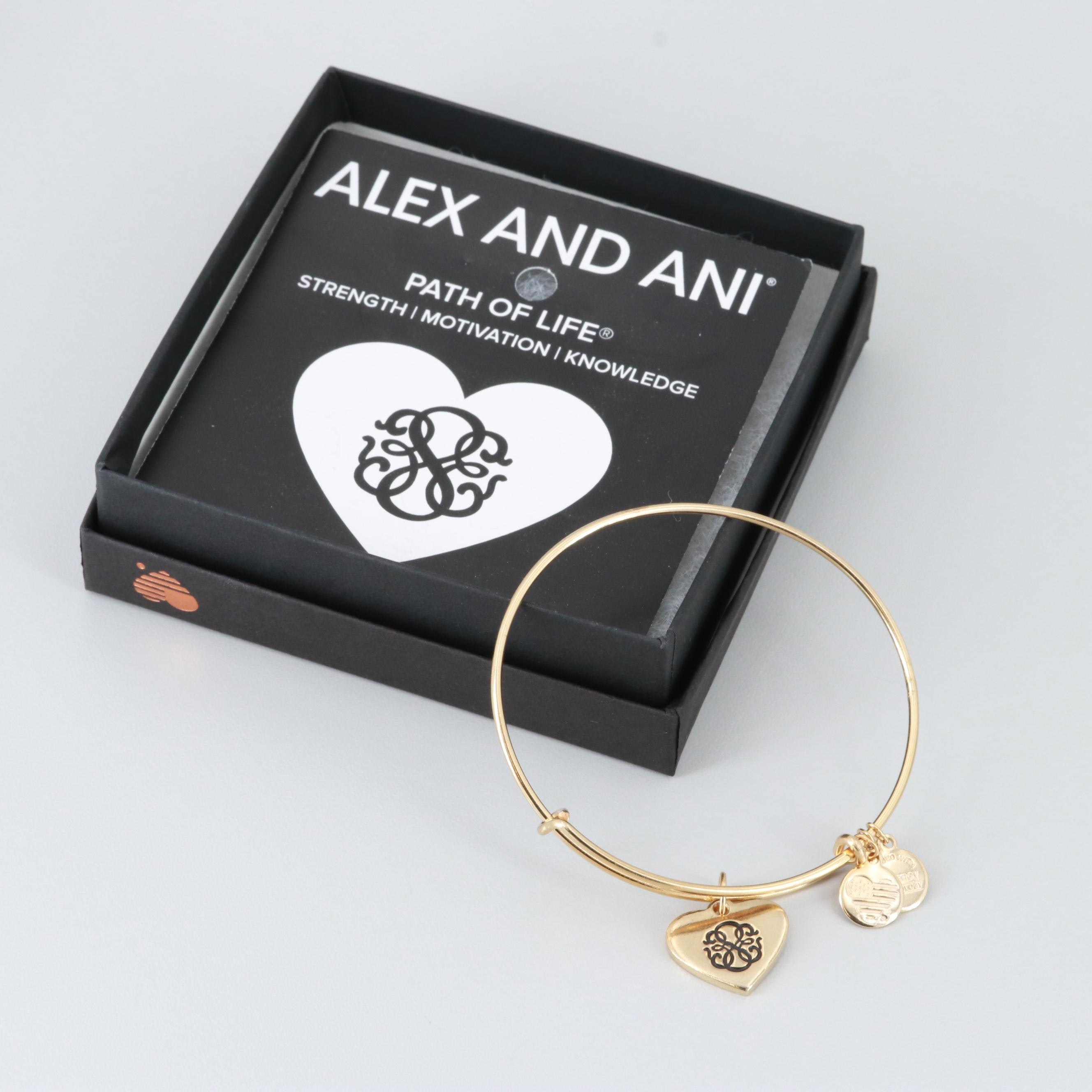 "Alex and Ani ""Path of Life"" Charm Bangle Bracelet"