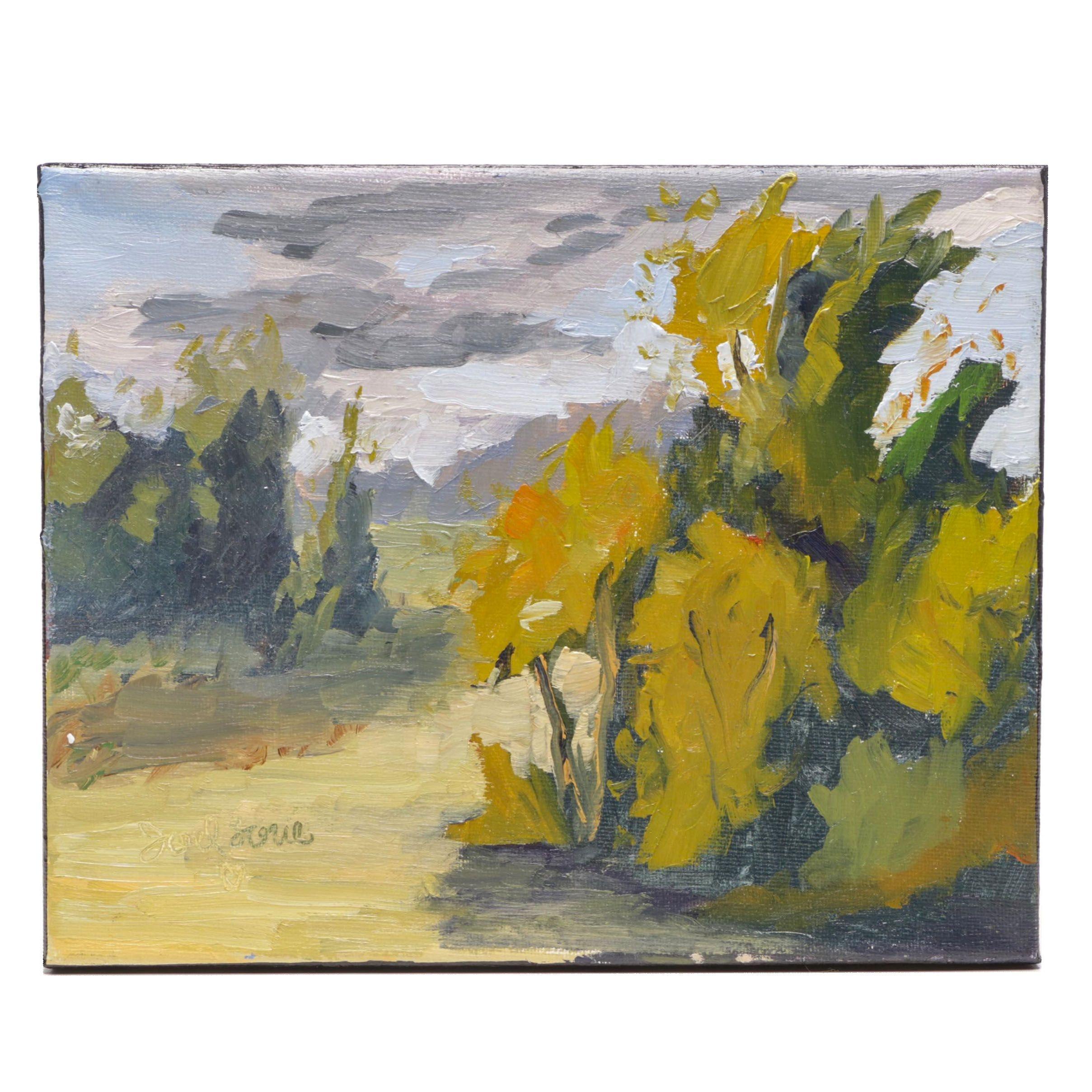 "Joel Love Landscape Oil Painting ""Near and Far"""