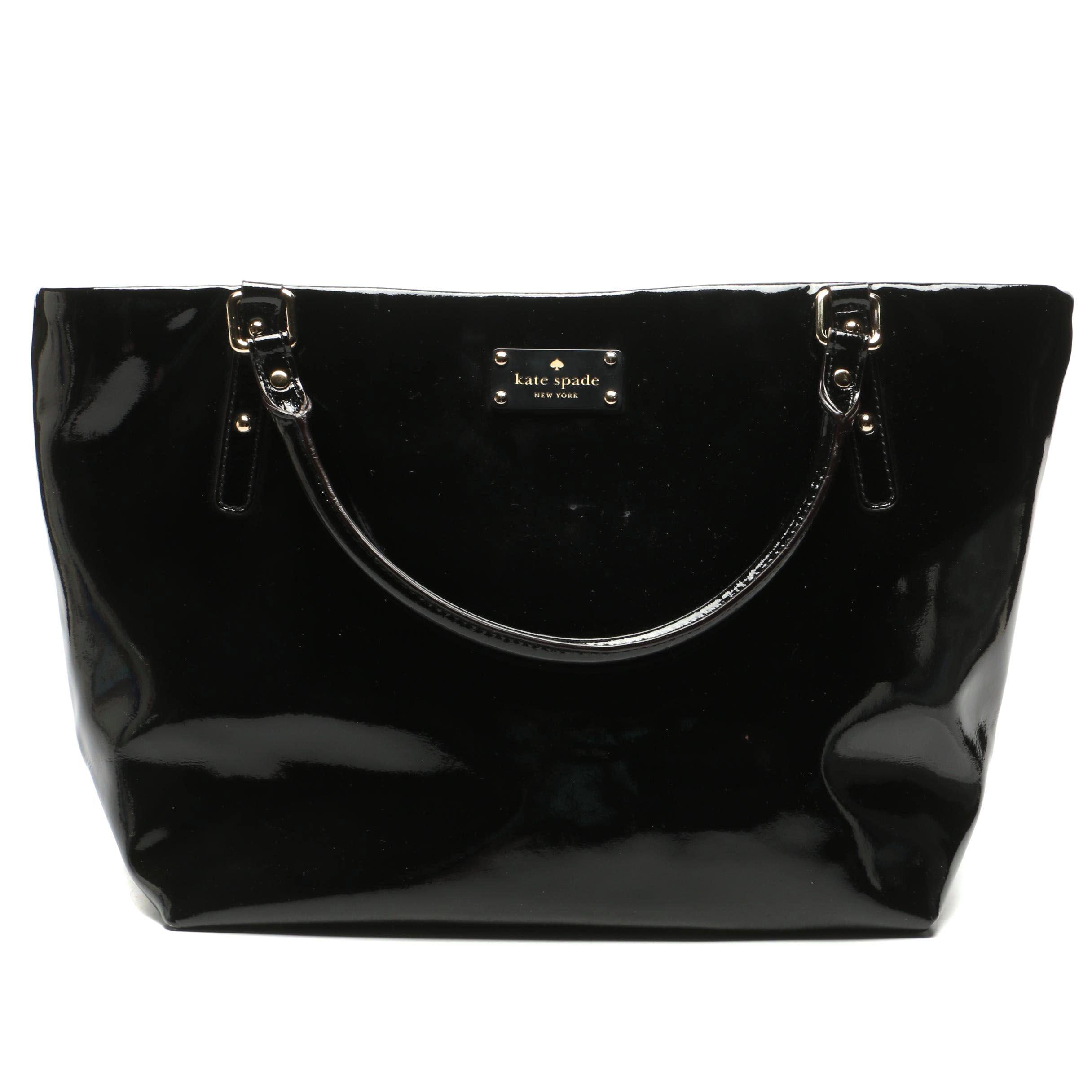 Kate Spade New York Jackson Square Sophie Black Patent Leather Tote Bag