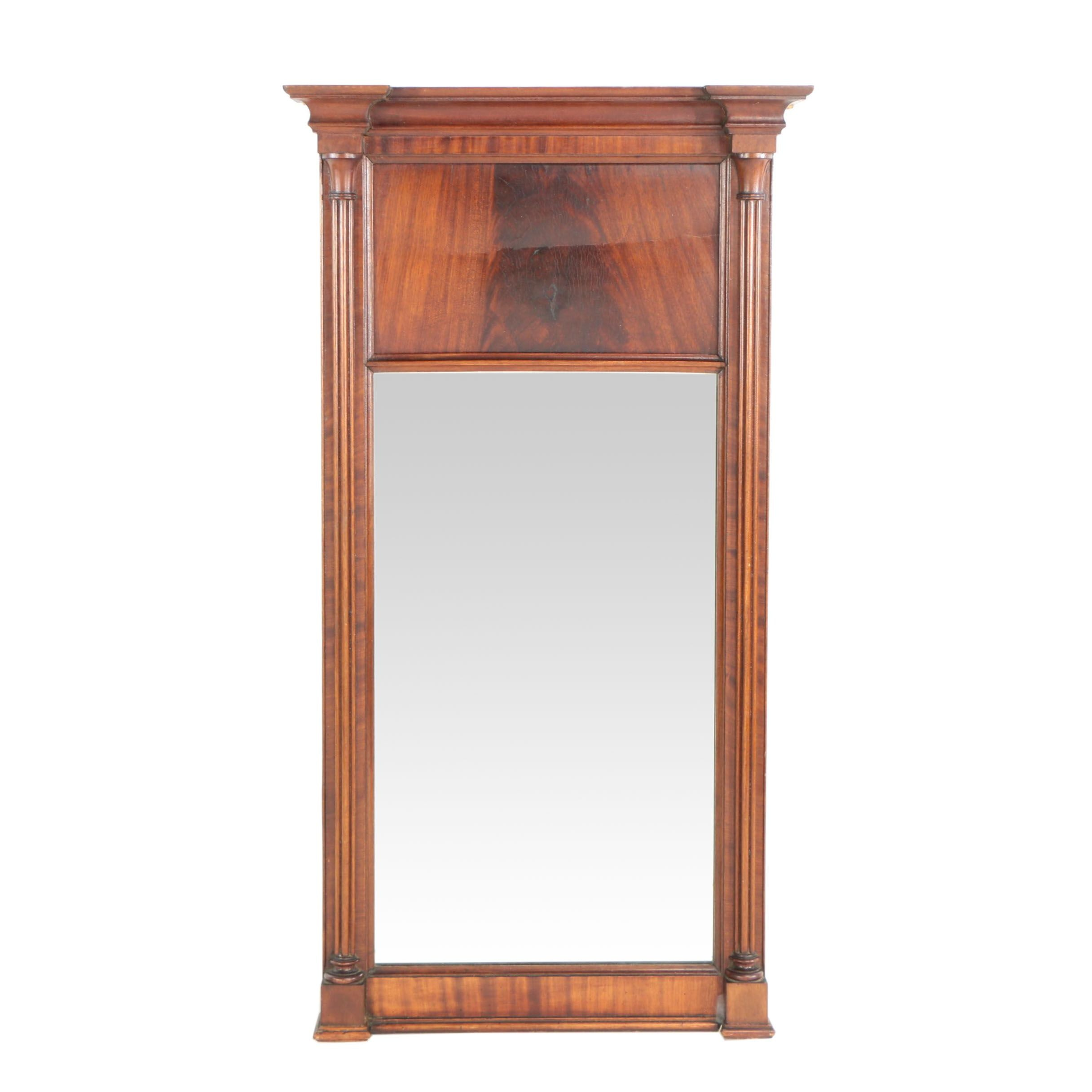American Classical Carved Mahogany Mirror, Second Quarter 19th Century