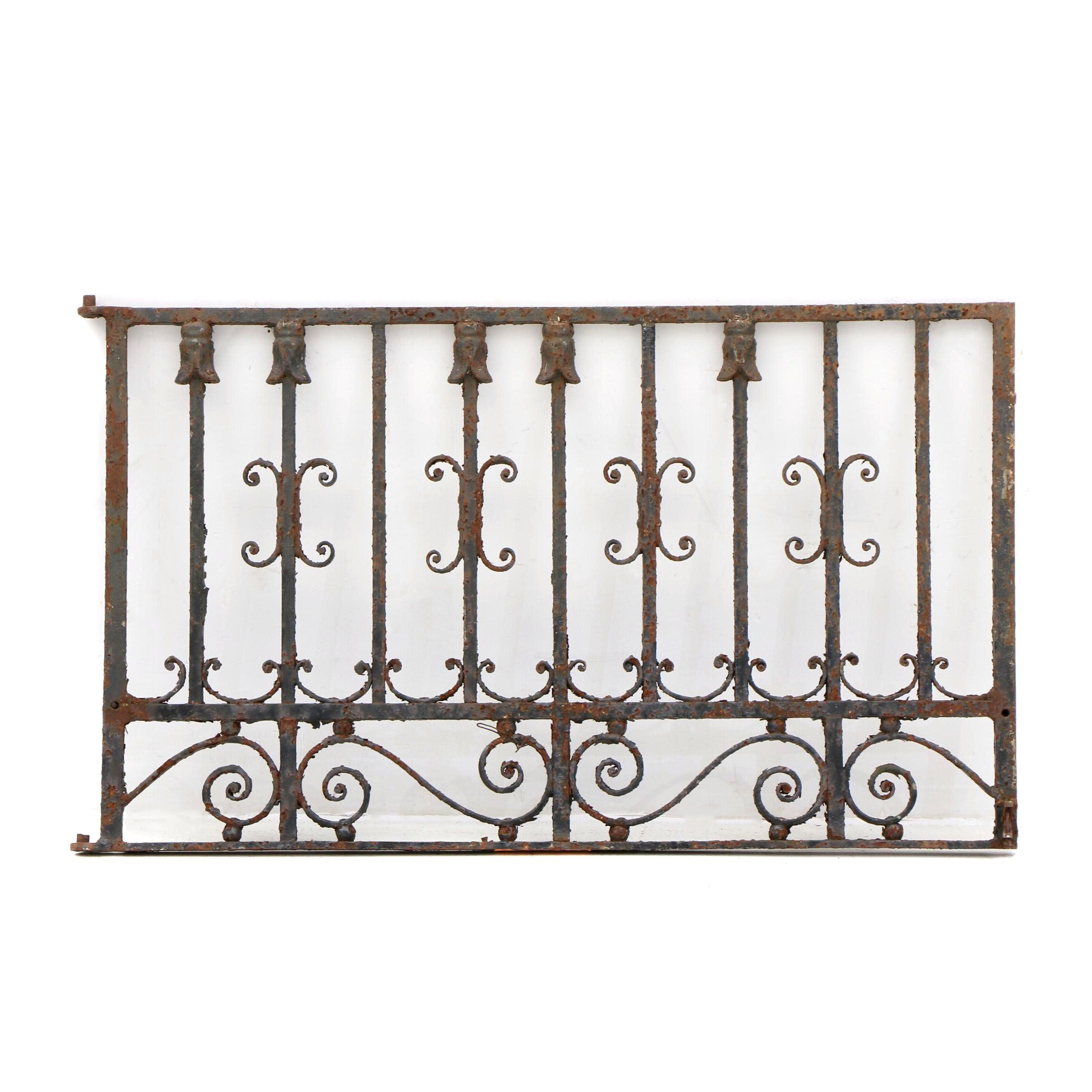 Early Wrought Iron Panel