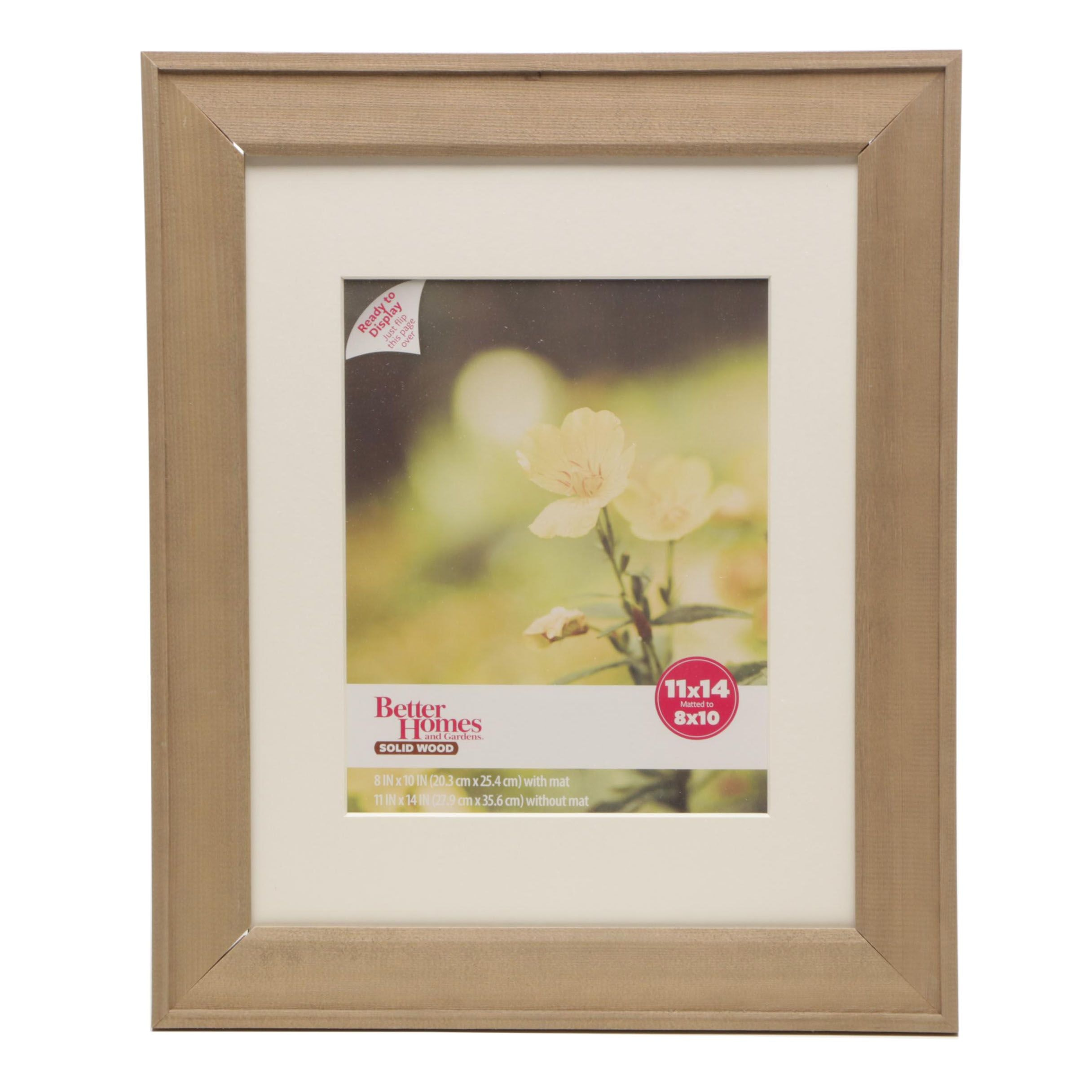 Better Homes and Gardens Wood 11x14 Picture Frames