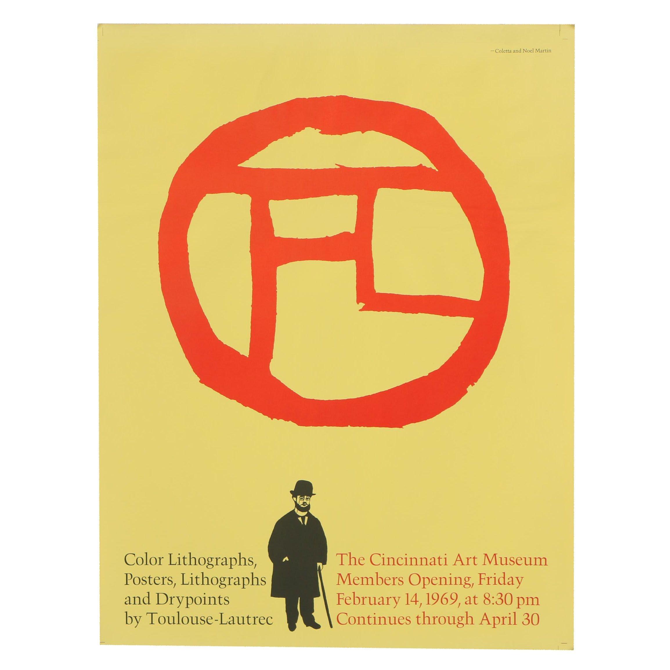 Poster for the Cincinnati Art Museum Toulouse-Lautrec Exhibition