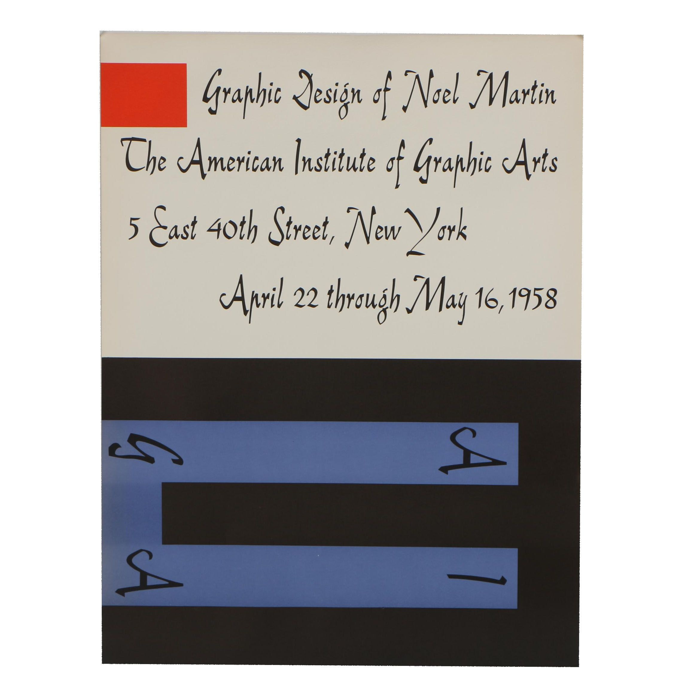 Exhibition Poster for the American Institute of Graphic Arts