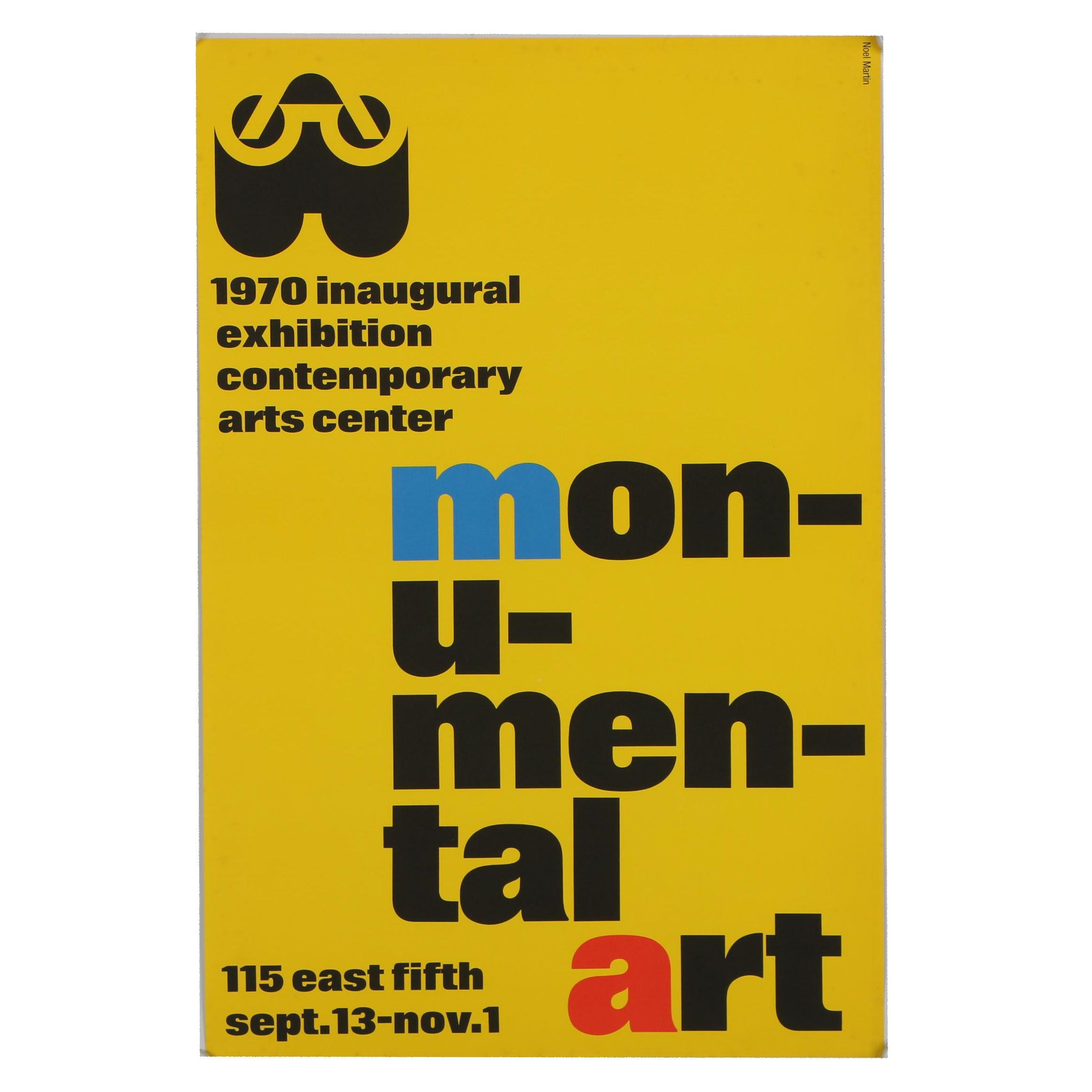 Noel Martin Poster for the Inaugural Exhibition of the Contemporary Arts Center