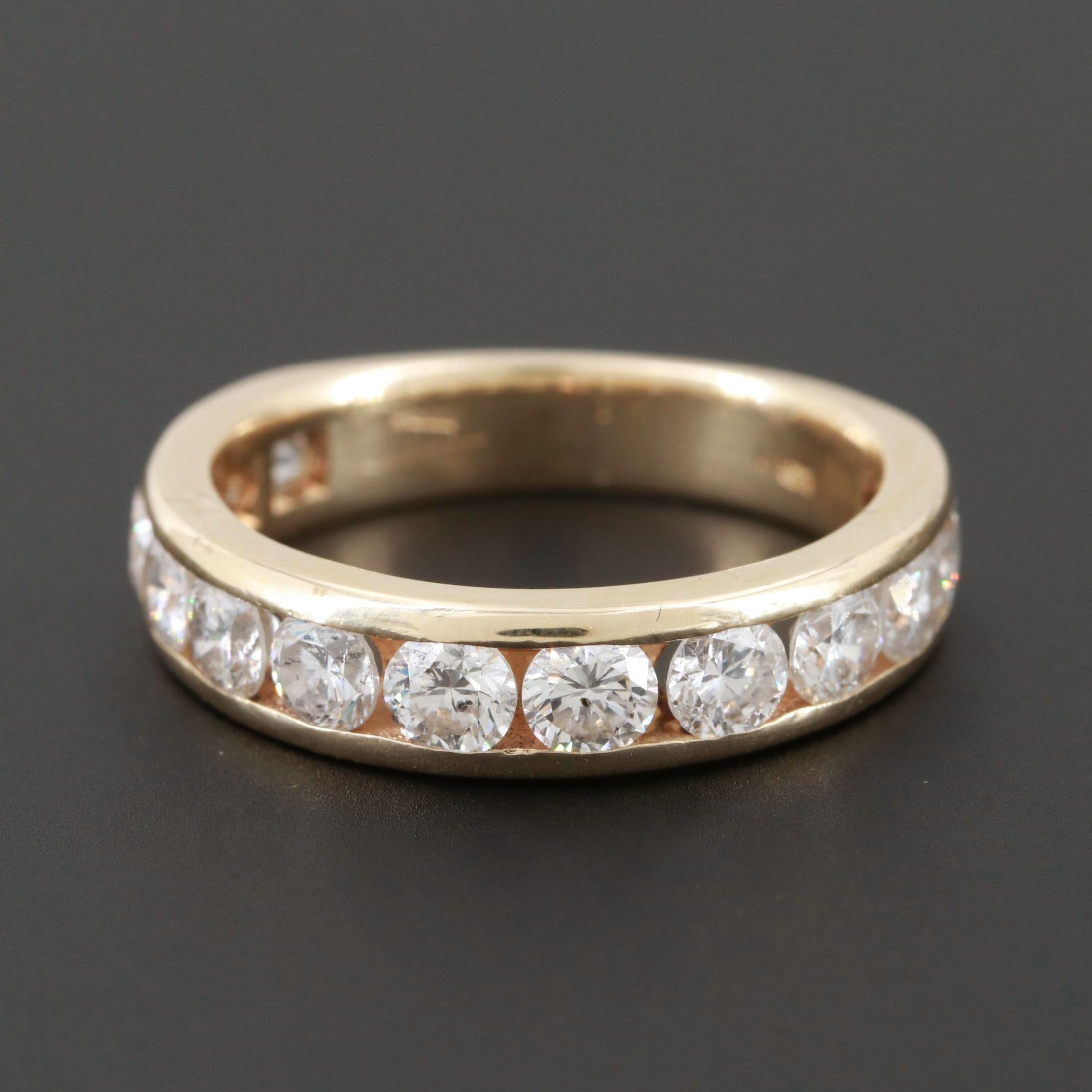 14K Yellow Gold 1.75 CTW Diamond Band