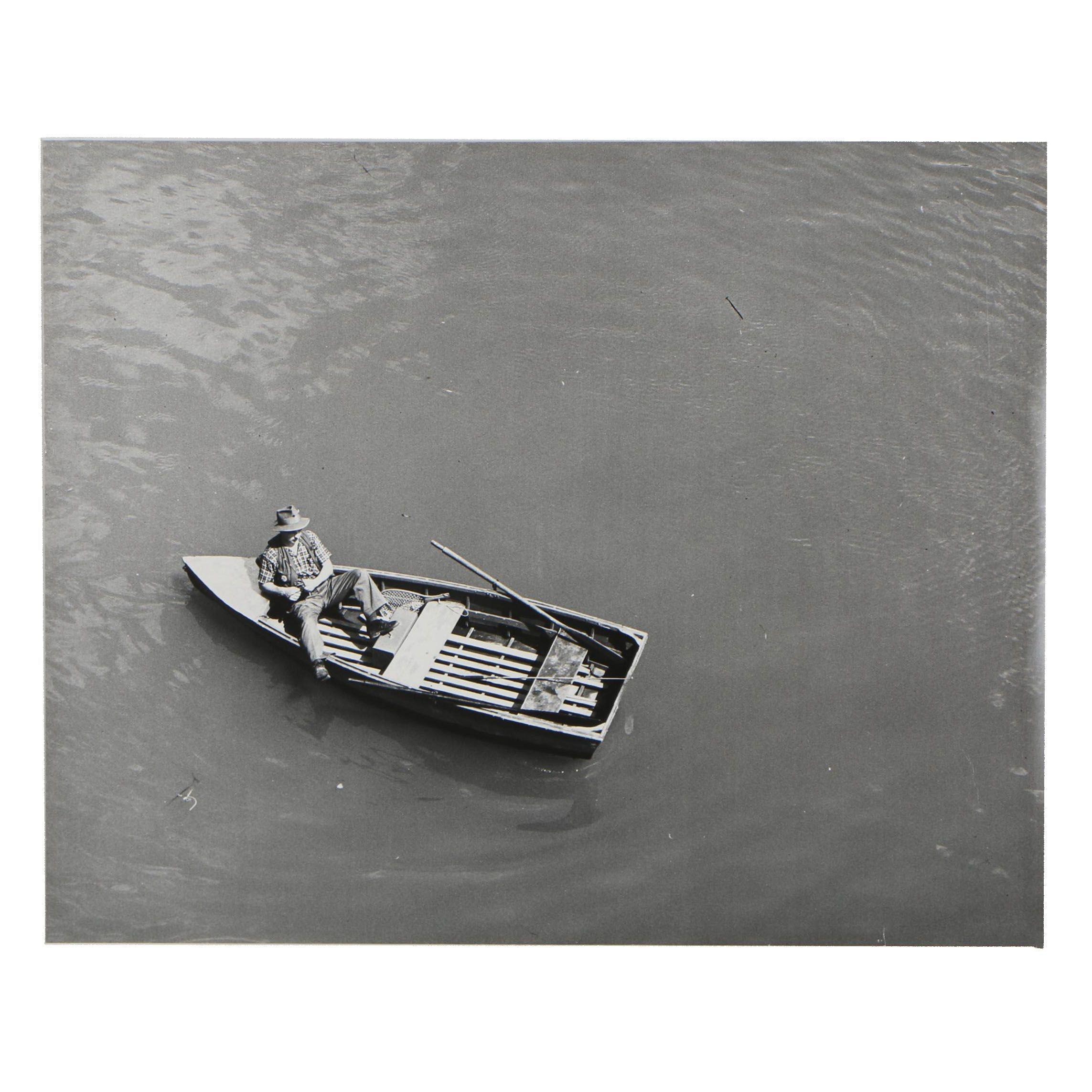 1957 Silver Gelatin Photograph of Fisherman