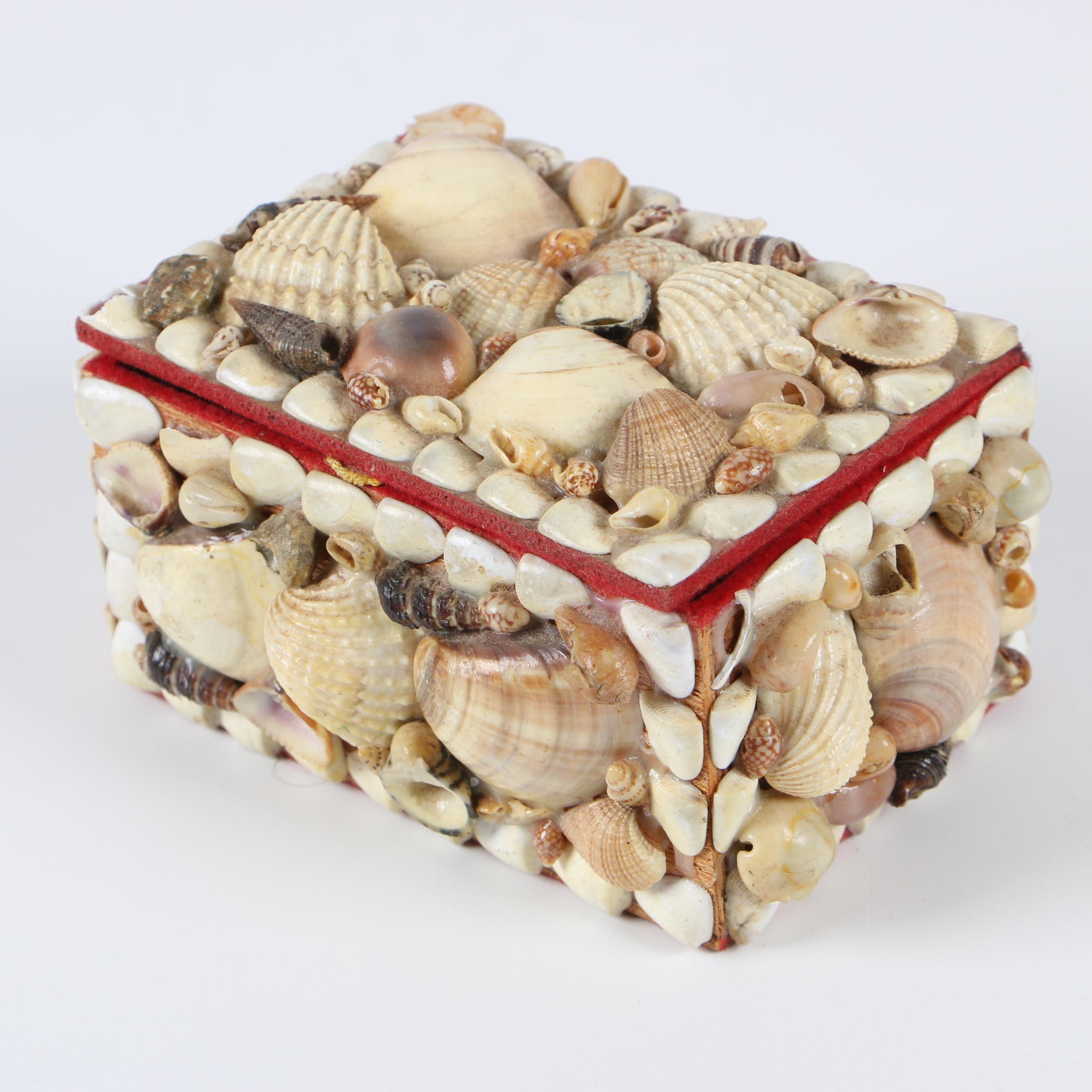 Maritime Folk Art Seashell Sweetheart Box