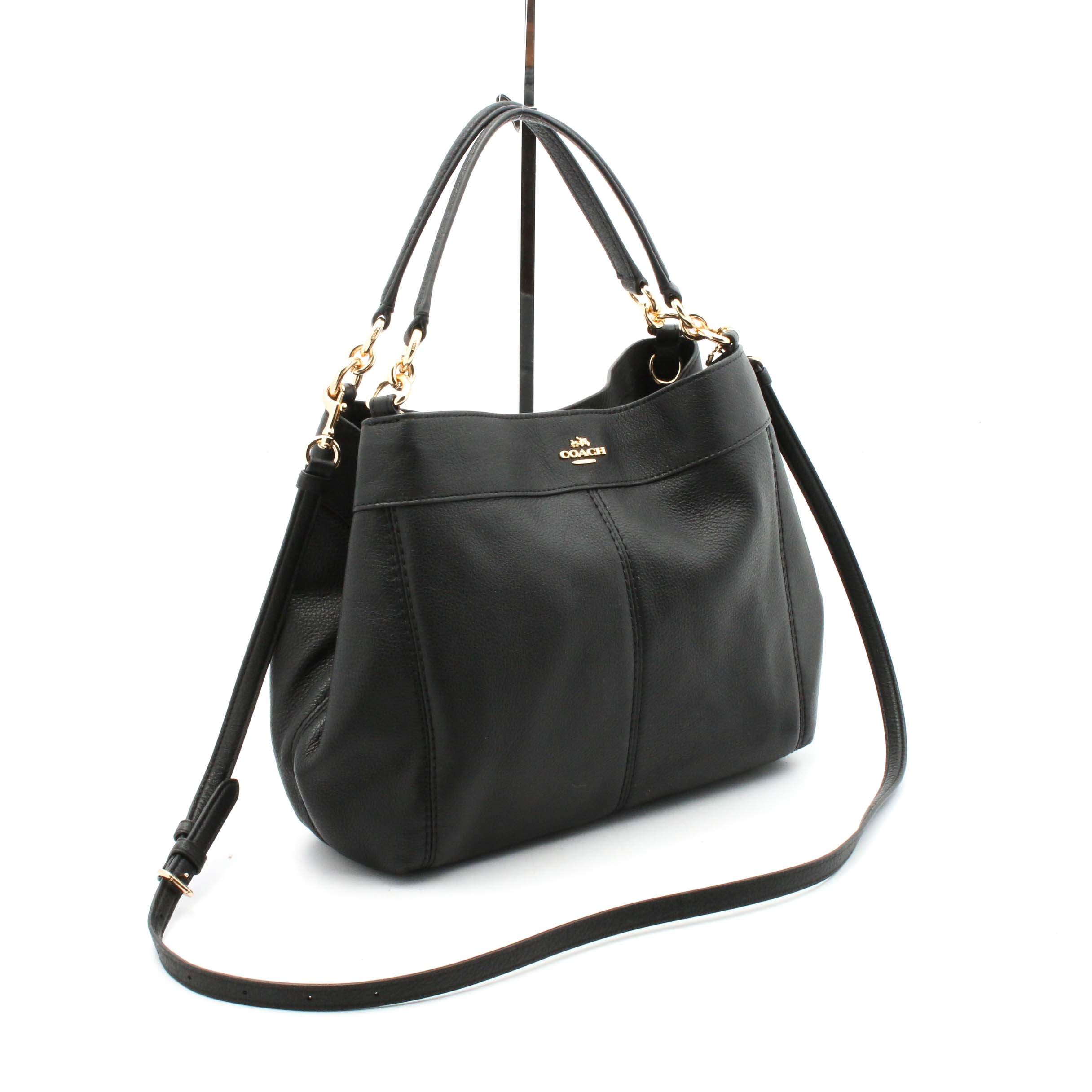 Coach Lexy Pebbled Leather Shoulder Bag