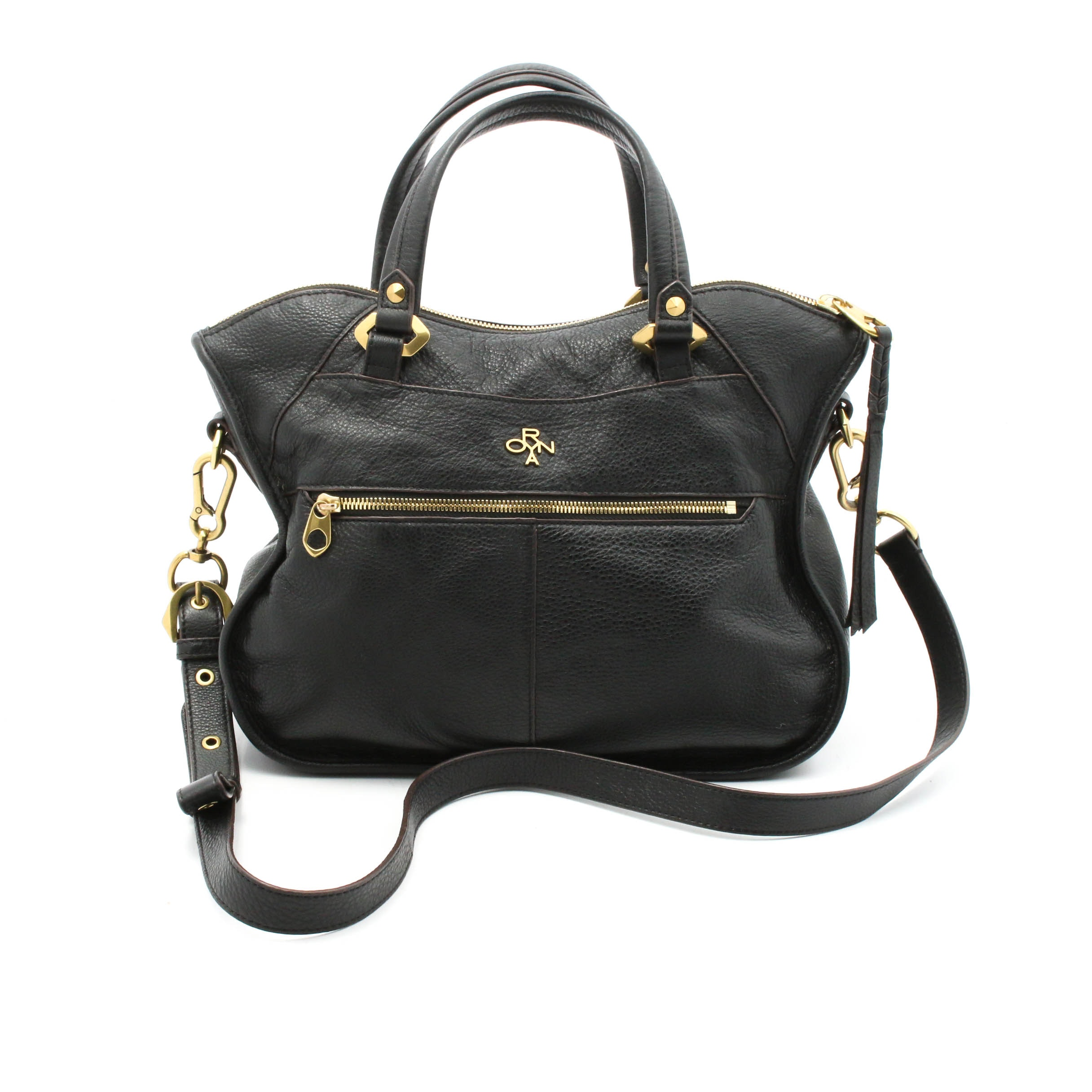 orYANY Black Leather Shoulder Bag