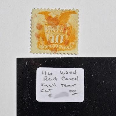 Assortment of Vintage U S  Postage Stamps in Scott Album