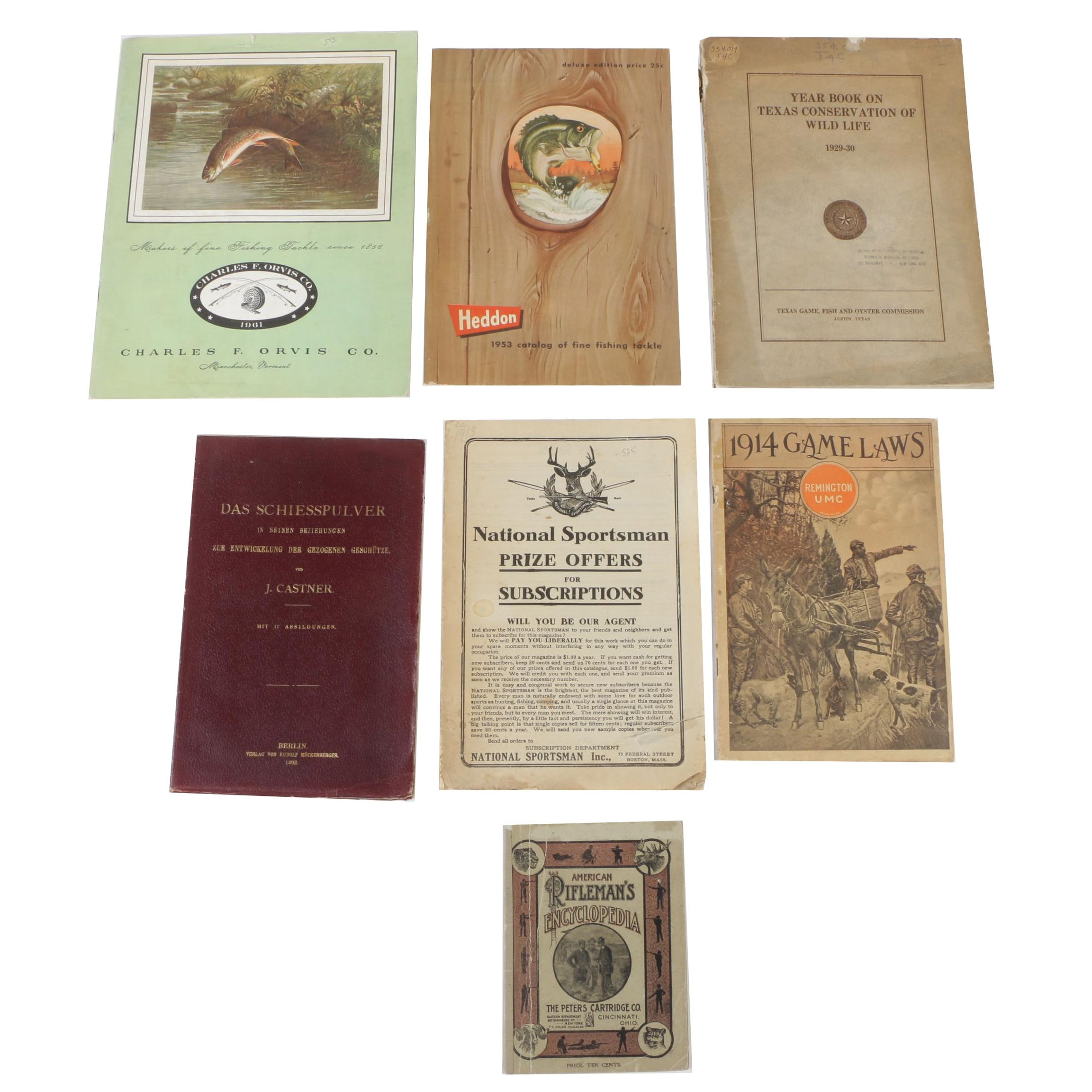 Vintage Hunting and Fishing Booklets