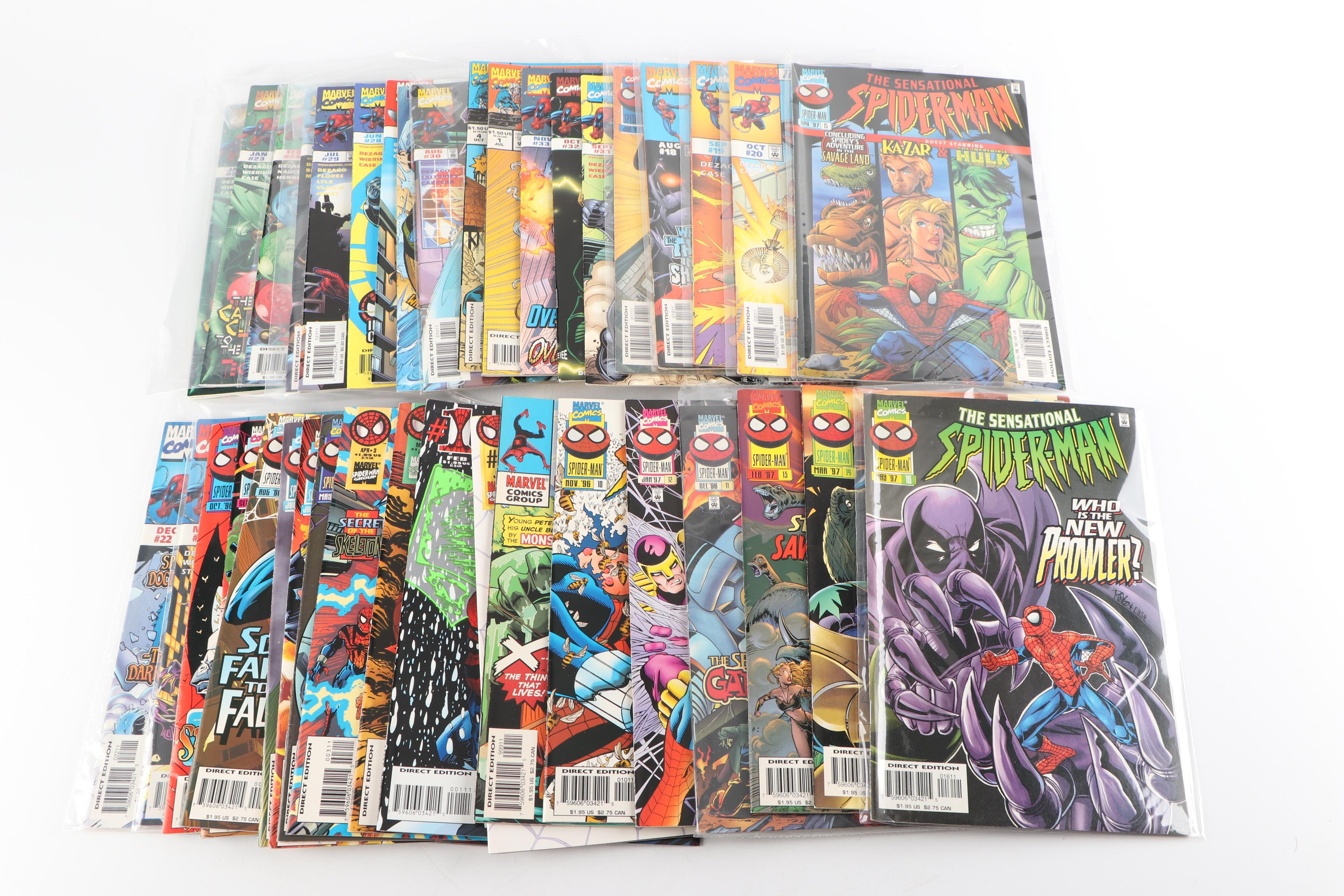 "Modern Age Marvel Comics ""The Sensational Spider-Man"" Comic Books"