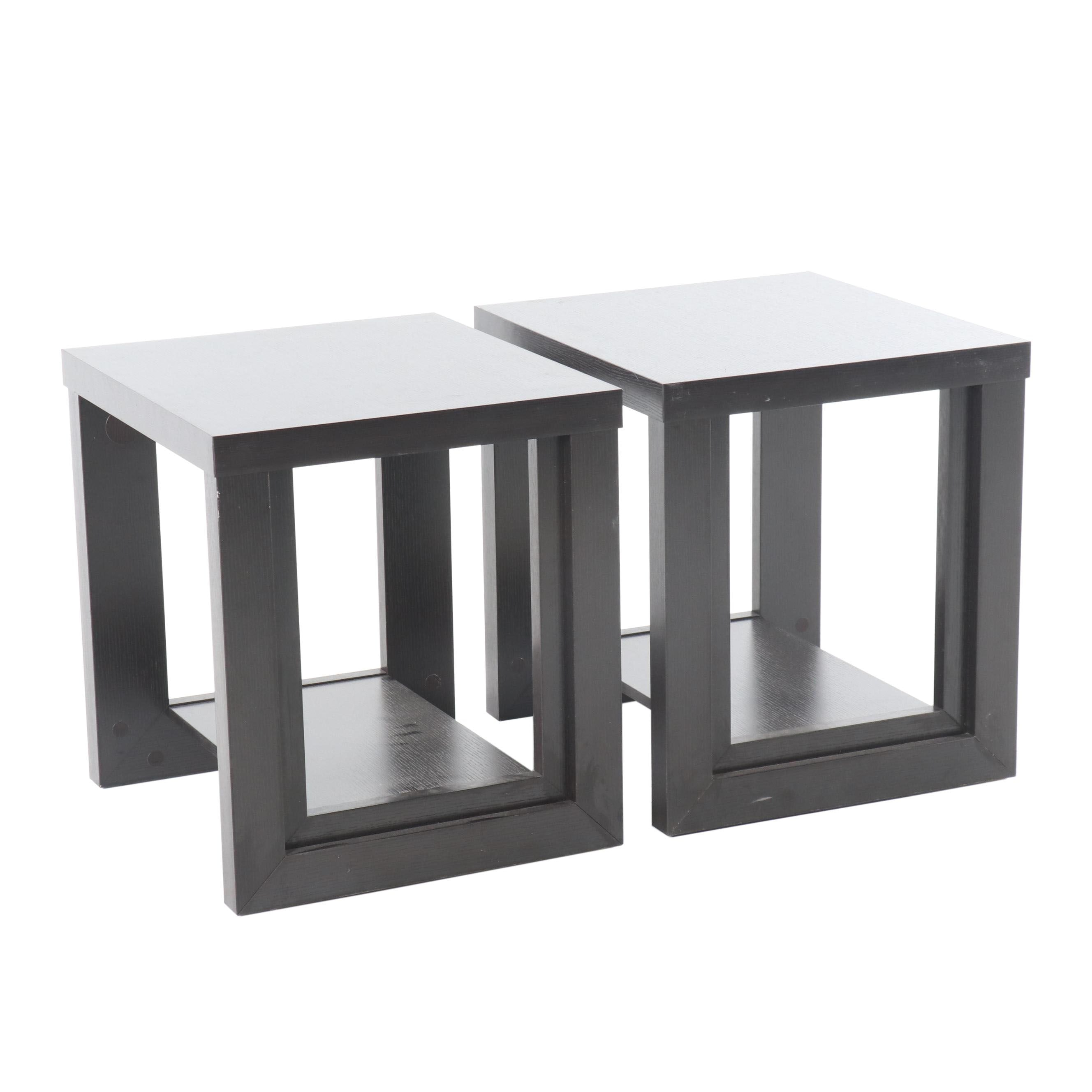 Contemporary Rectangular Side Tables, 21st Century