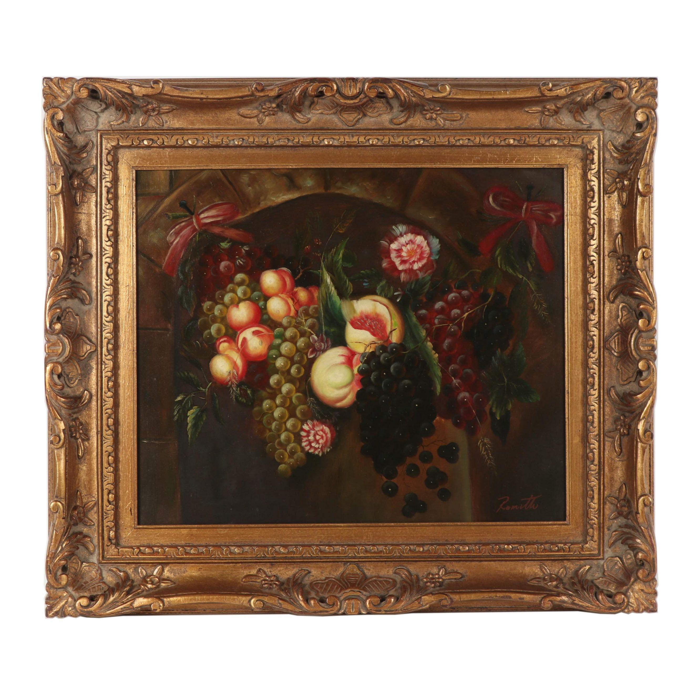 Romith Fruit Still Life Oil Painting