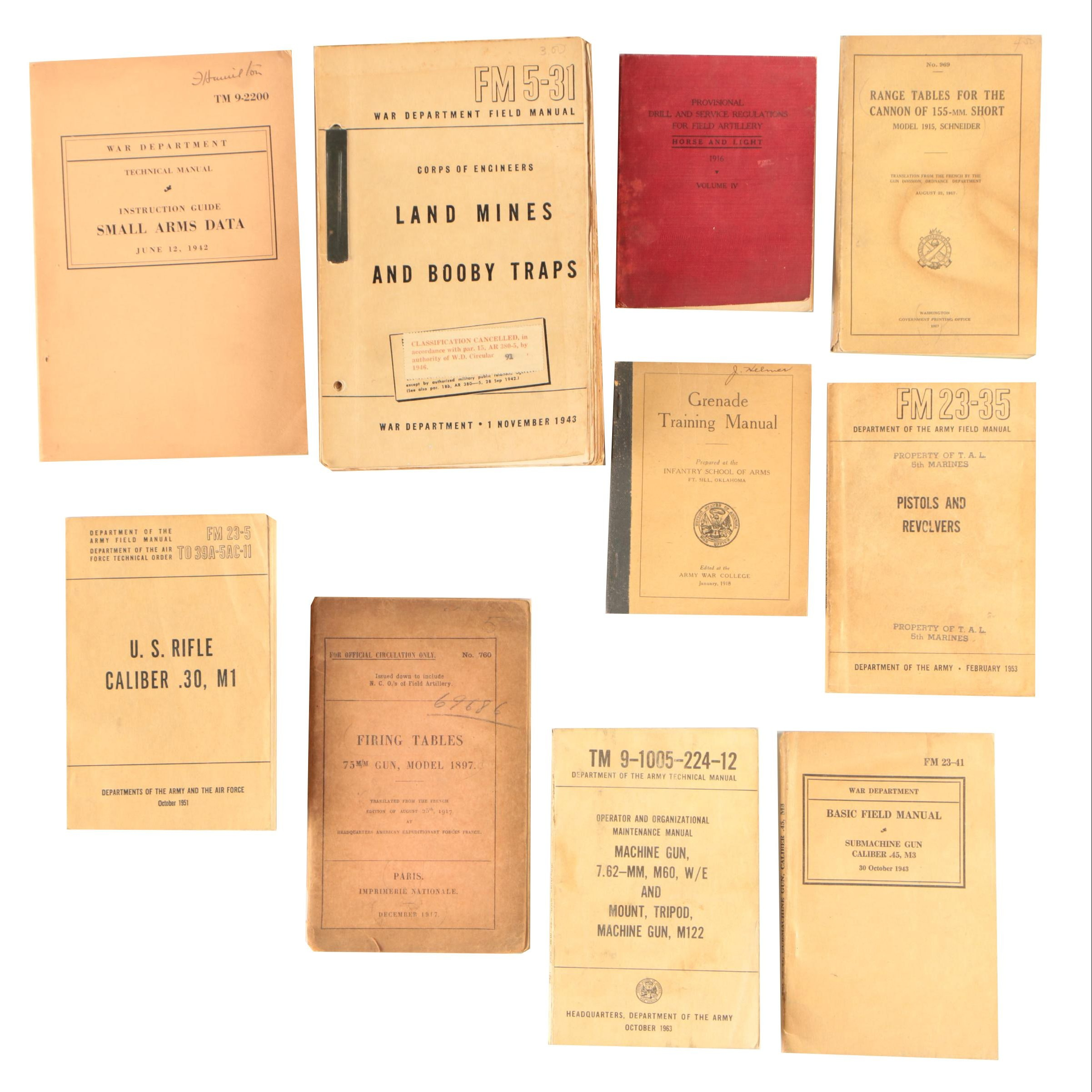 Vintage Military Manuals