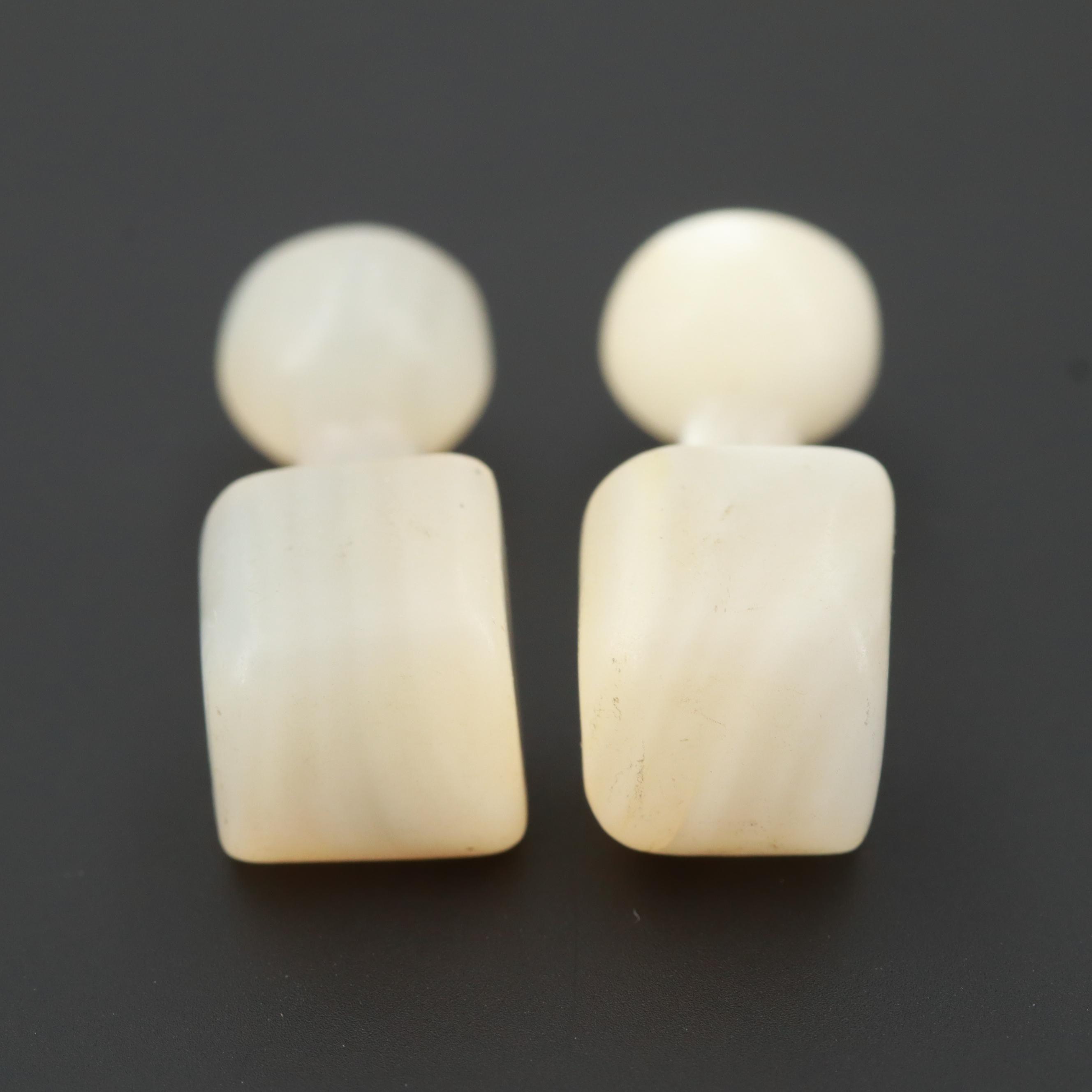 Carved Shell Cufflinks