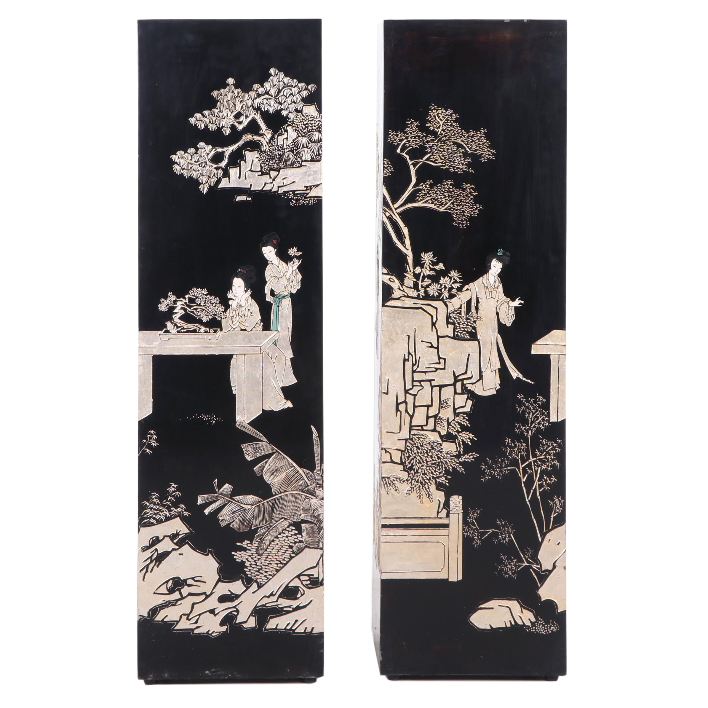 Chinese Coromandel Lacquer Display Stands