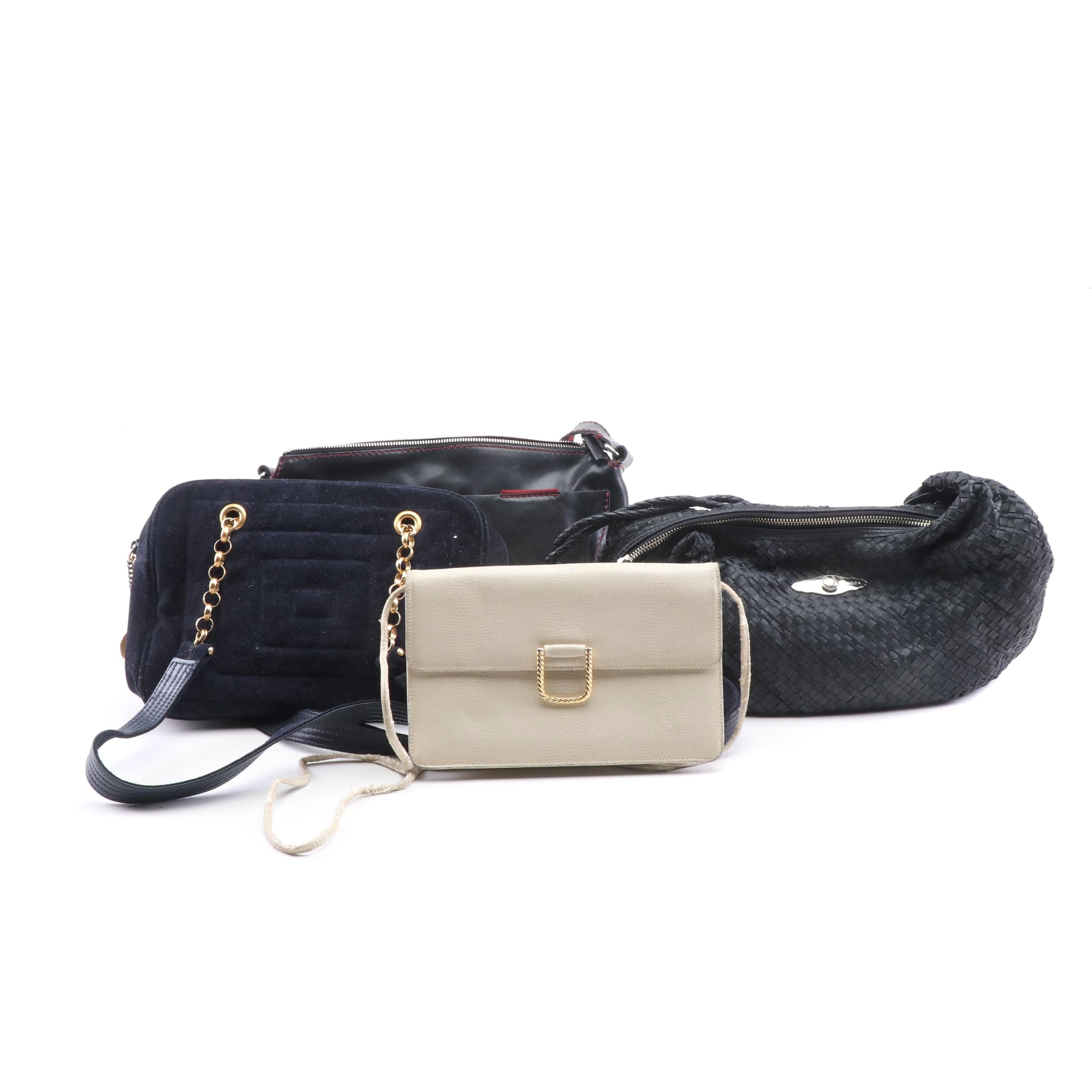 Leather and Suede Shoulder Bags Including Givenchy Paris and Elliott Lucca