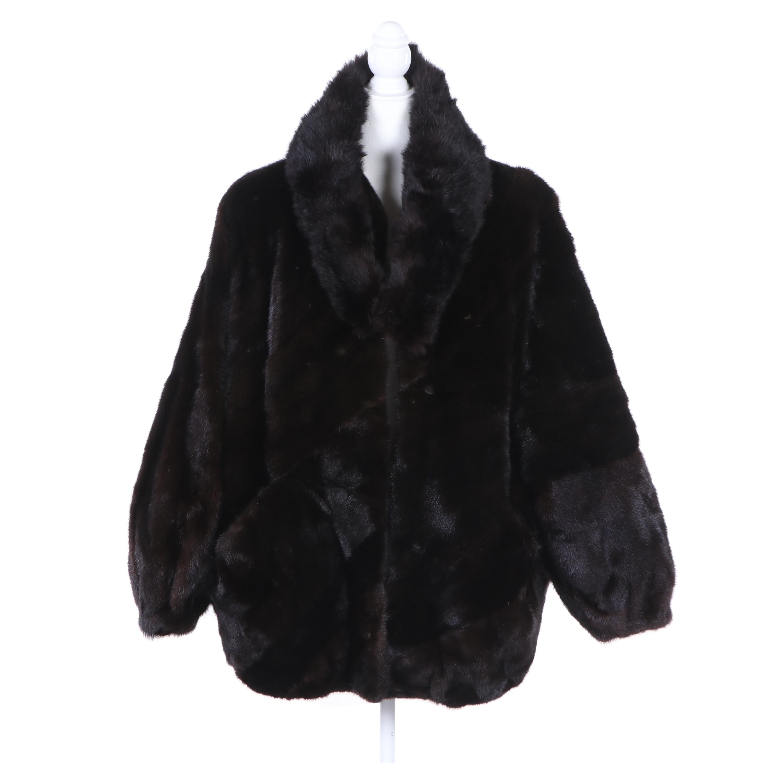 Louis Féraud Fourrure from Nan Dustin Mink Fur Coat and Fur Collar