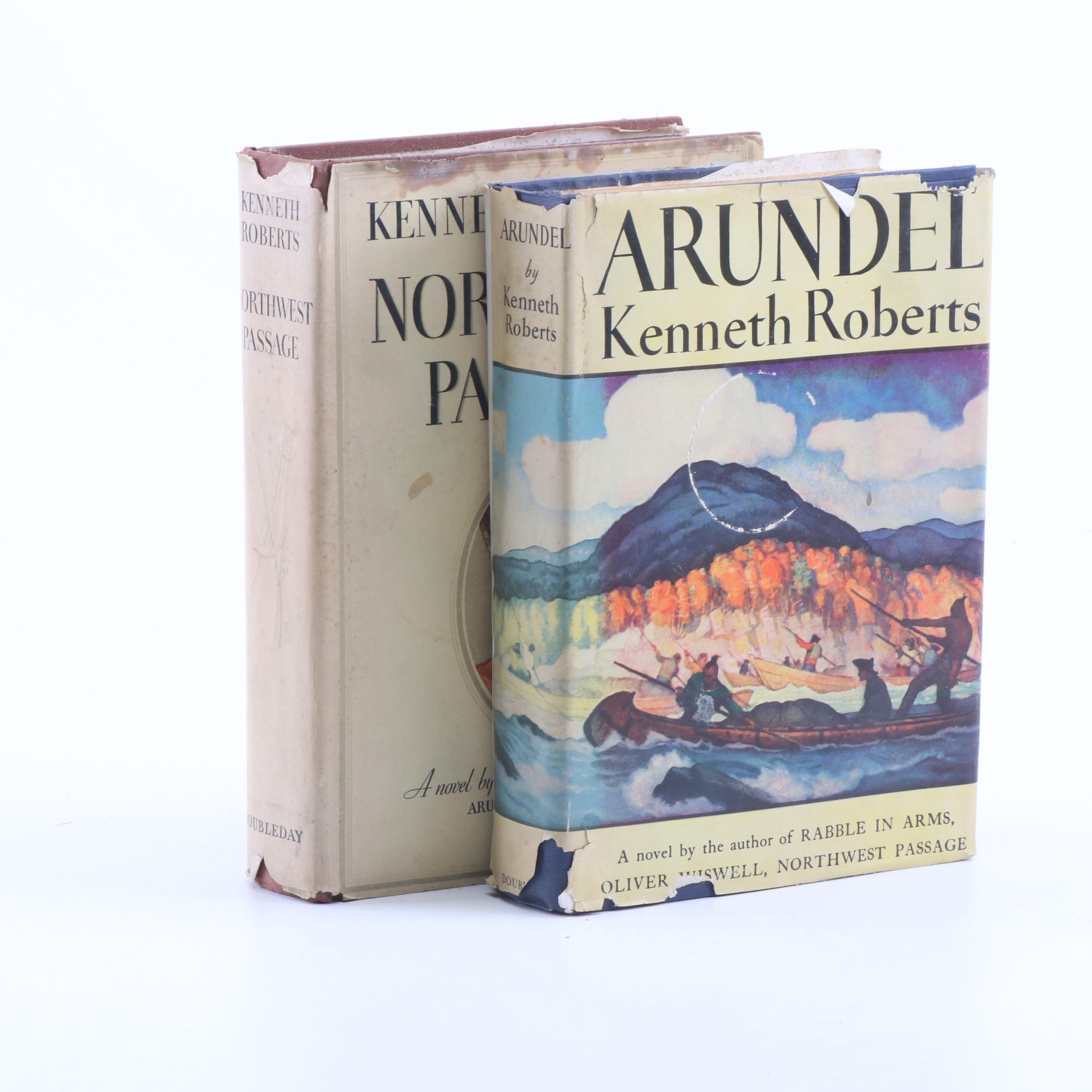 """Northwest Passage"" and ""Arundel"" with Wyeth Illustrations by Kenneth Roberts"