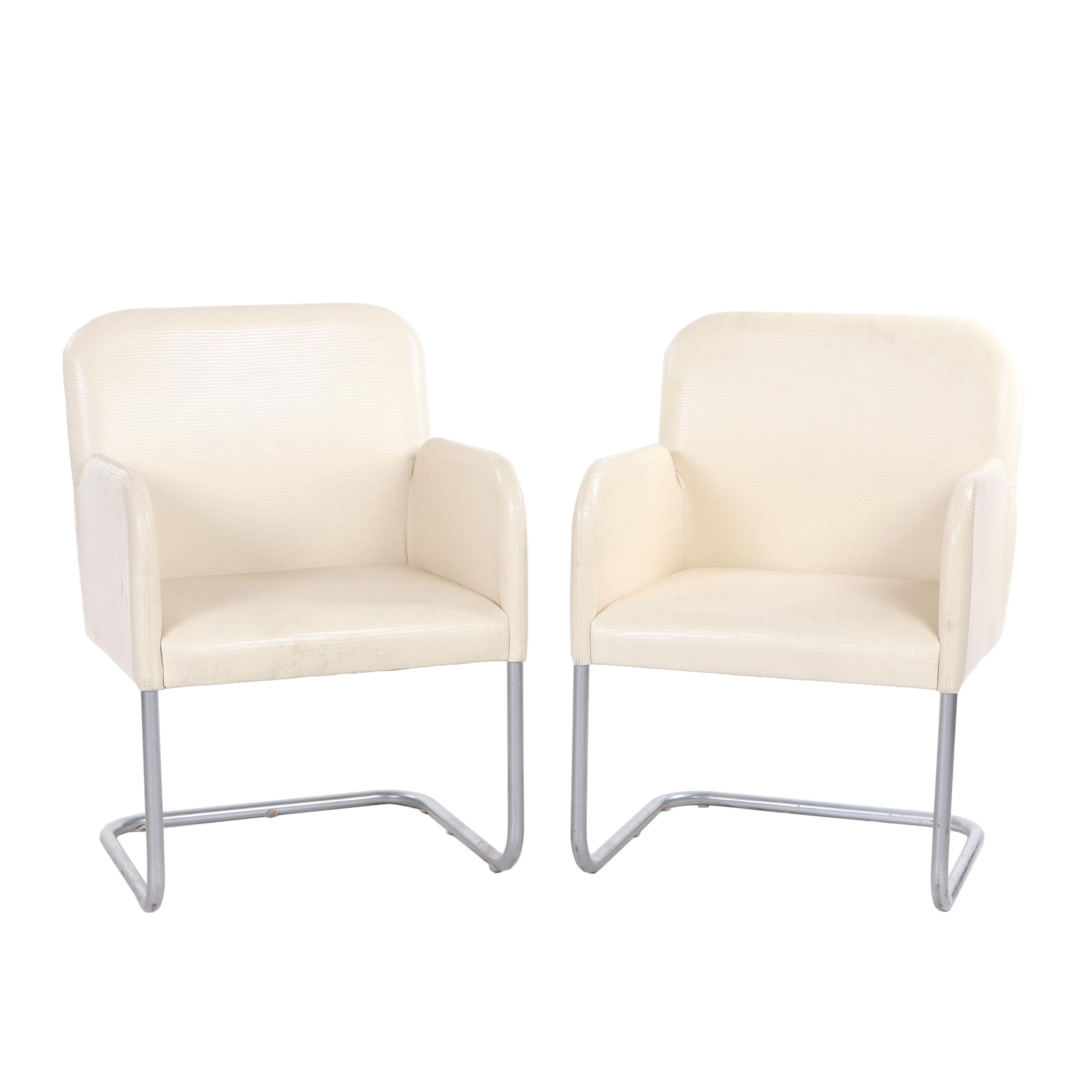 Modern Style Cantilever Armchairs, Mid to Late 20th Century
