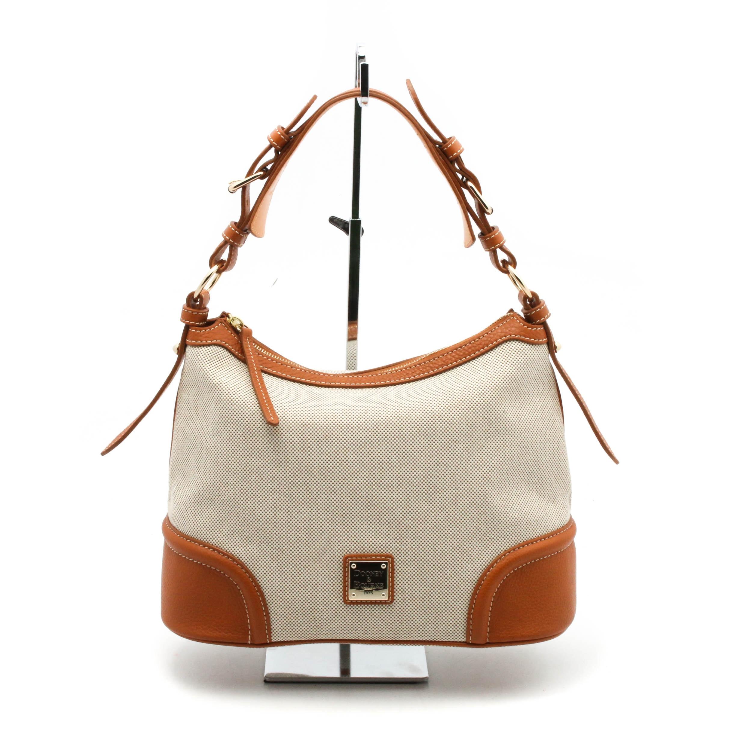Dooney & Bourke Canvas and Leather Hobo Handbag