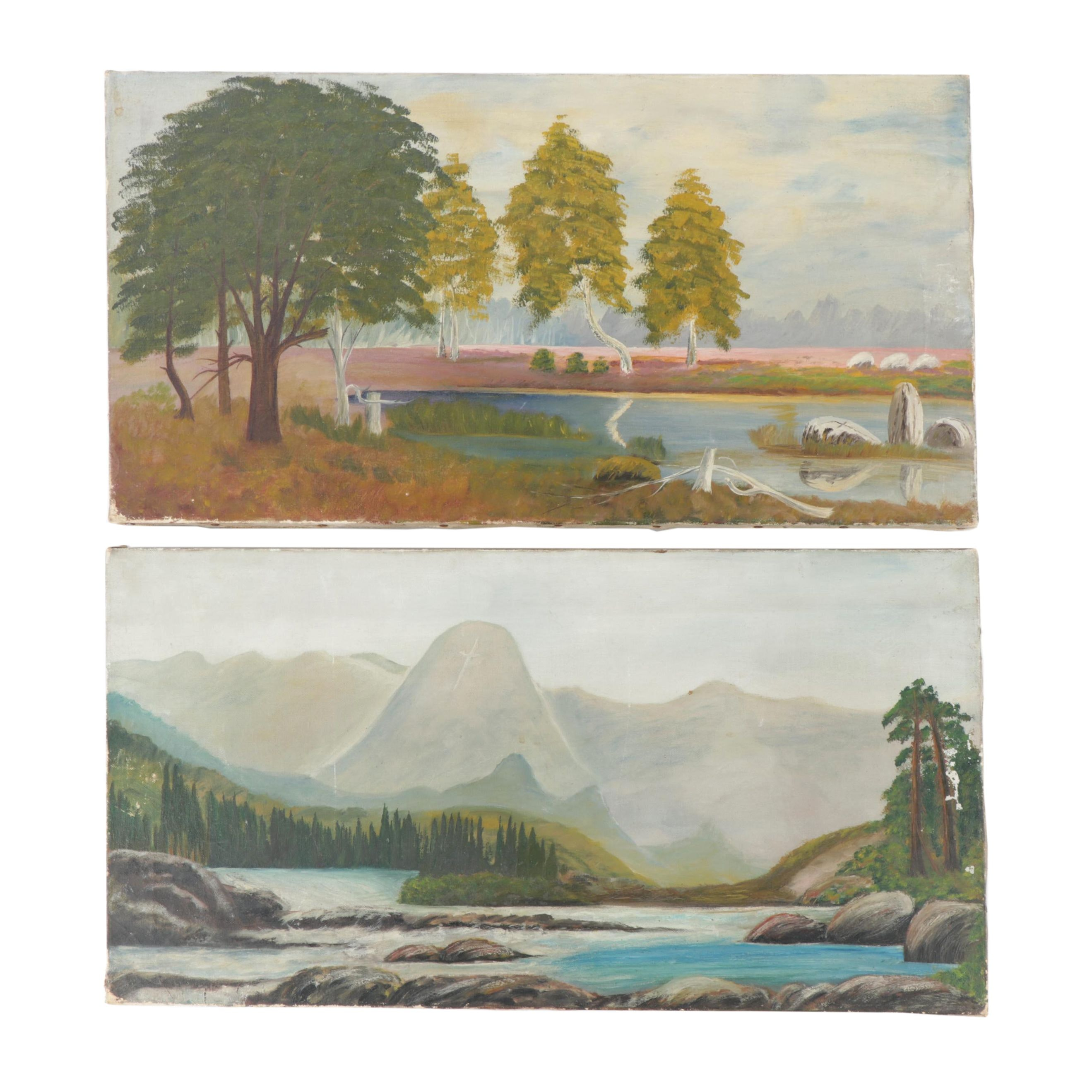 Early 20th Century Landscape Oil Paintings