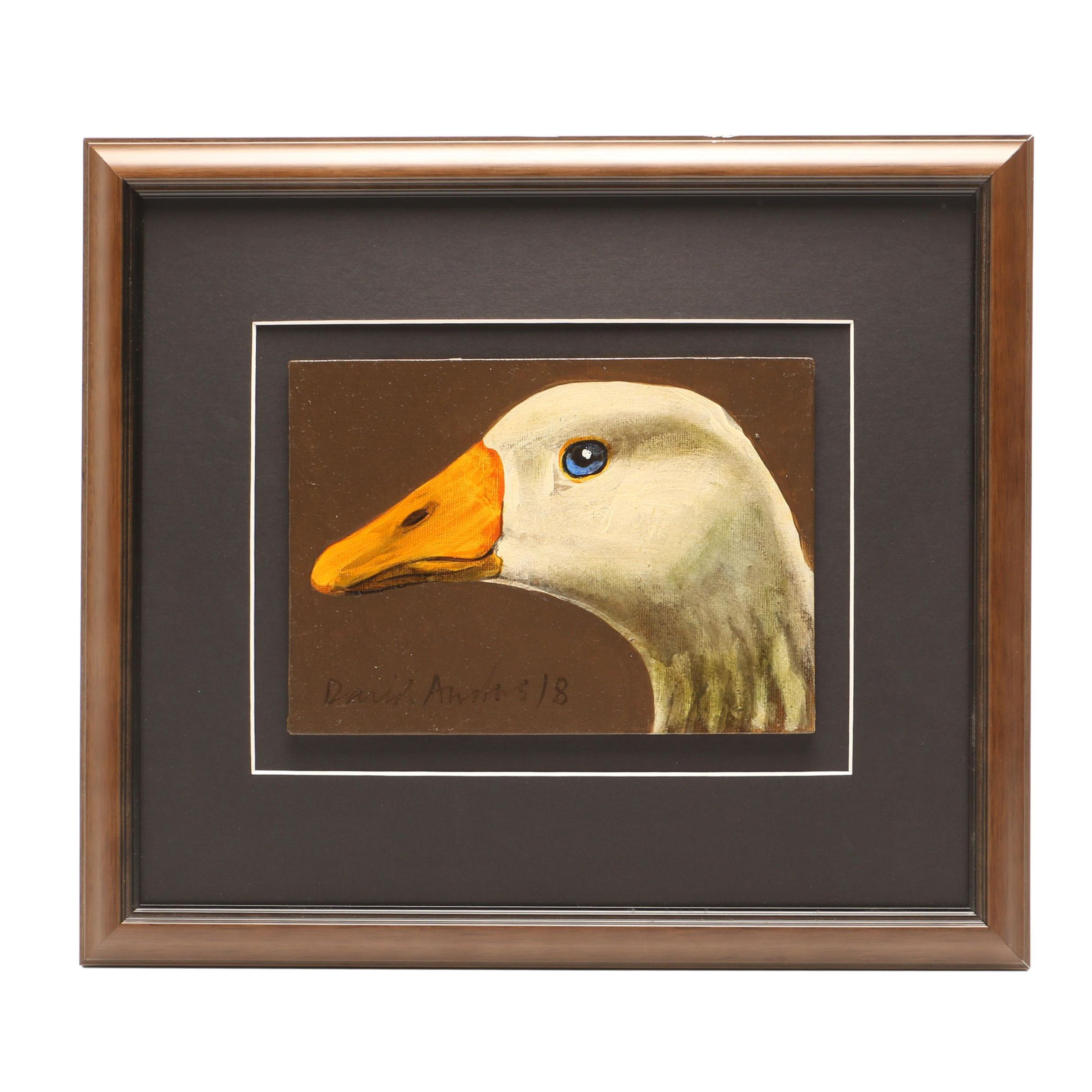 David Andrews Oil Painting of Goose
