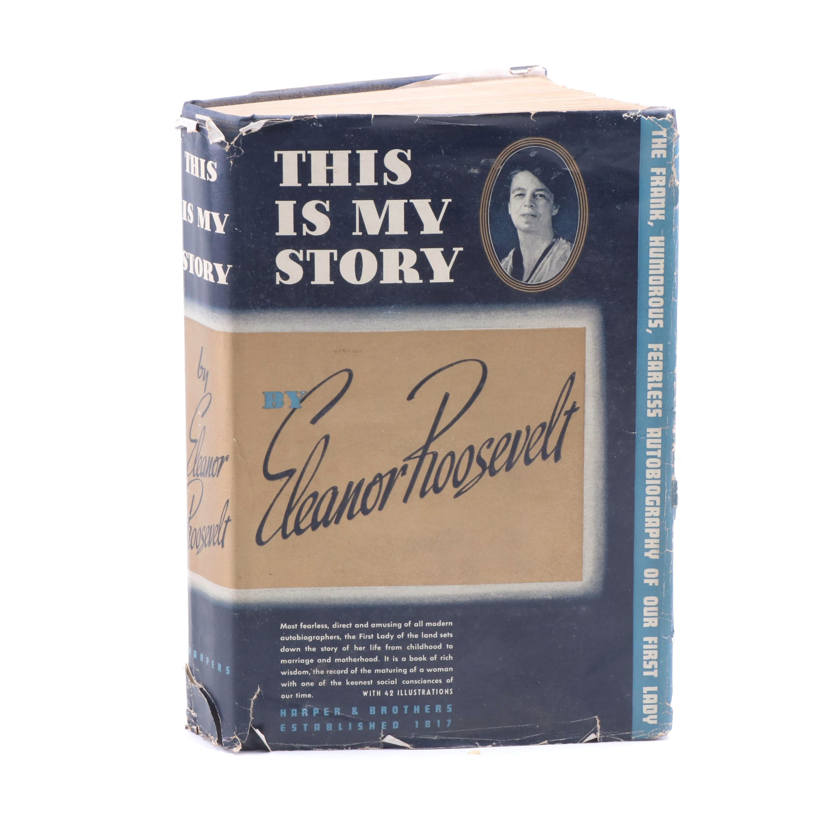"""1937 """"This is My Story"""" by Eleanor Roosevelt"""