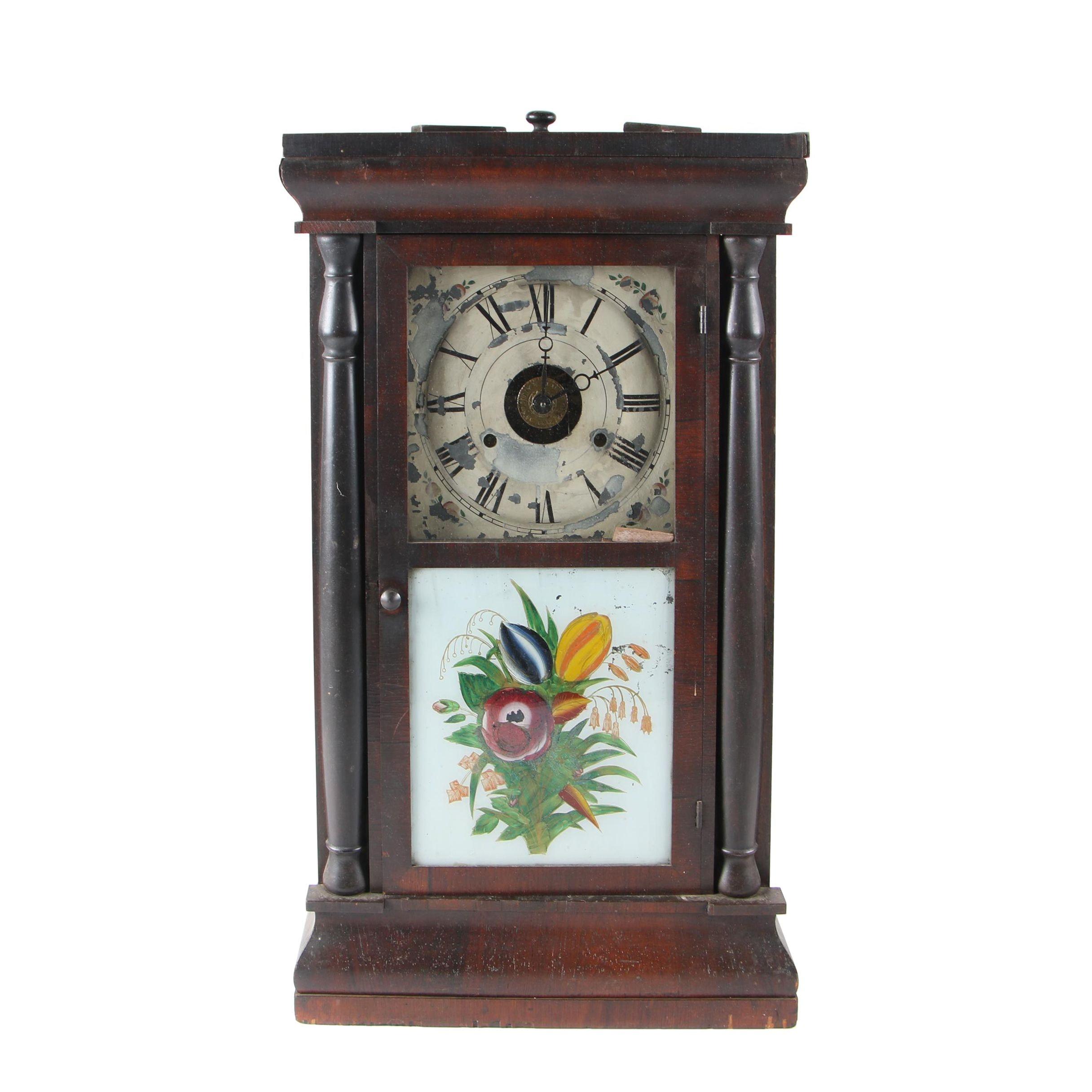 Seth Thomas Mahogany Ogee Clock, circa 1890