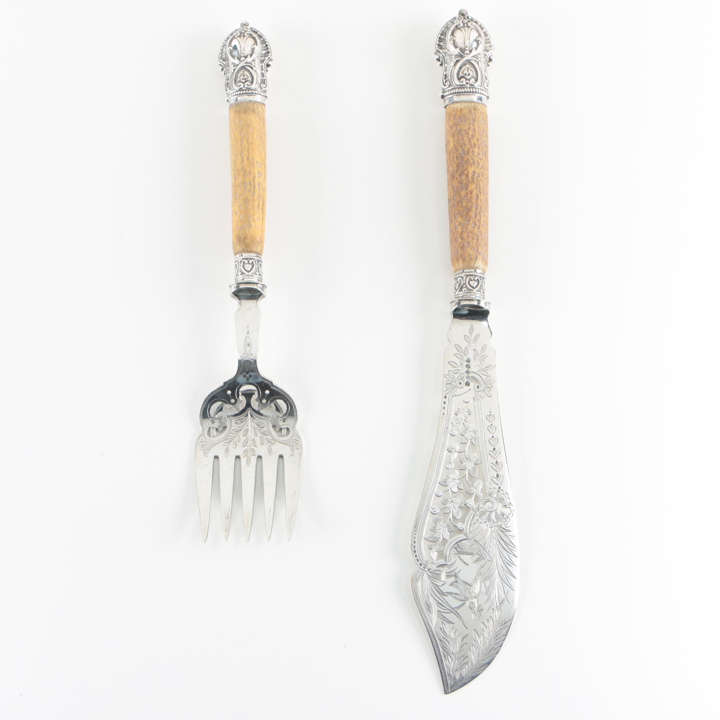 Harrison Brothers & Howson Silver Plate Fish Servers, Late 19th/ Early 20th