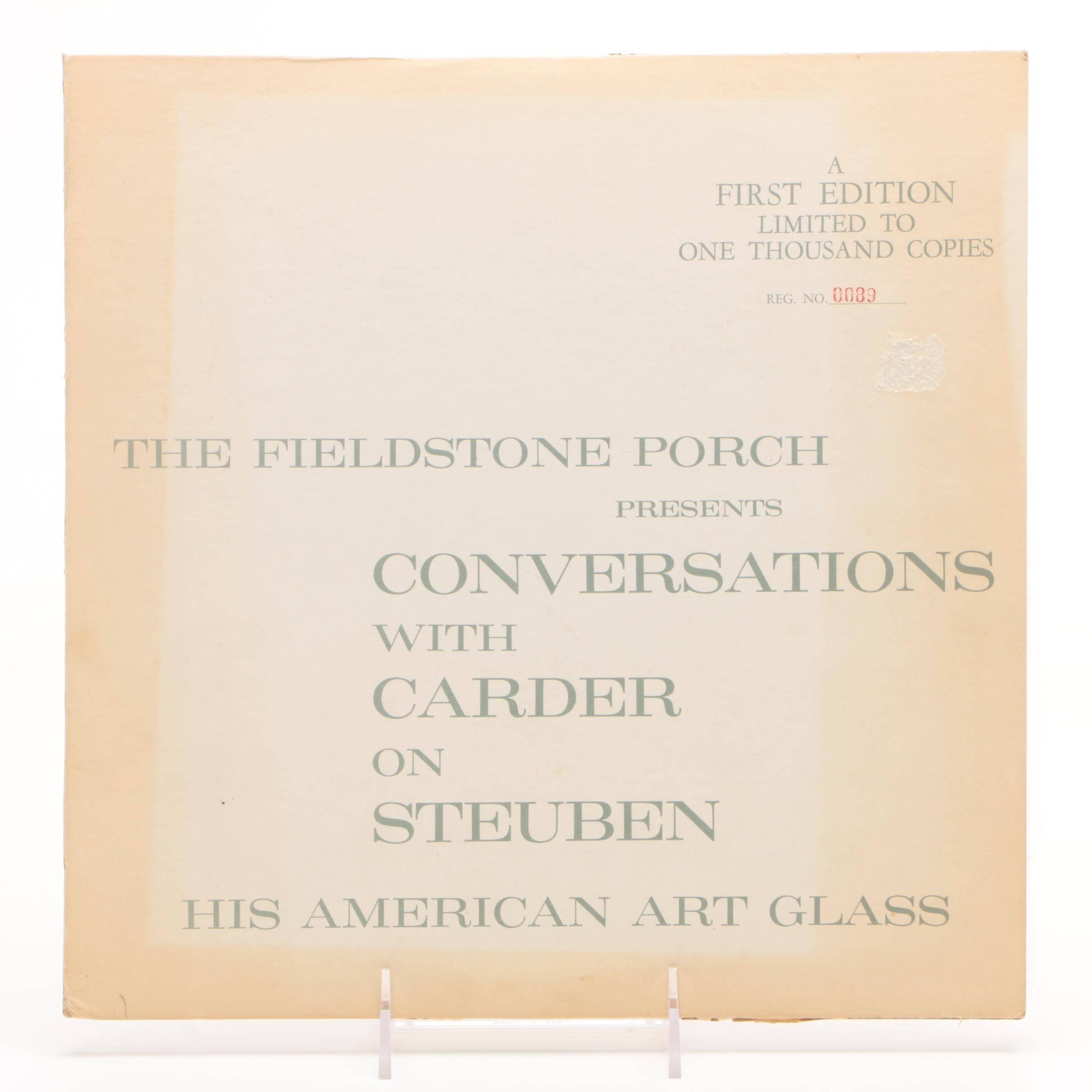 "First Edition ""Conversations with Carder on Steuben"" Record, 1963"