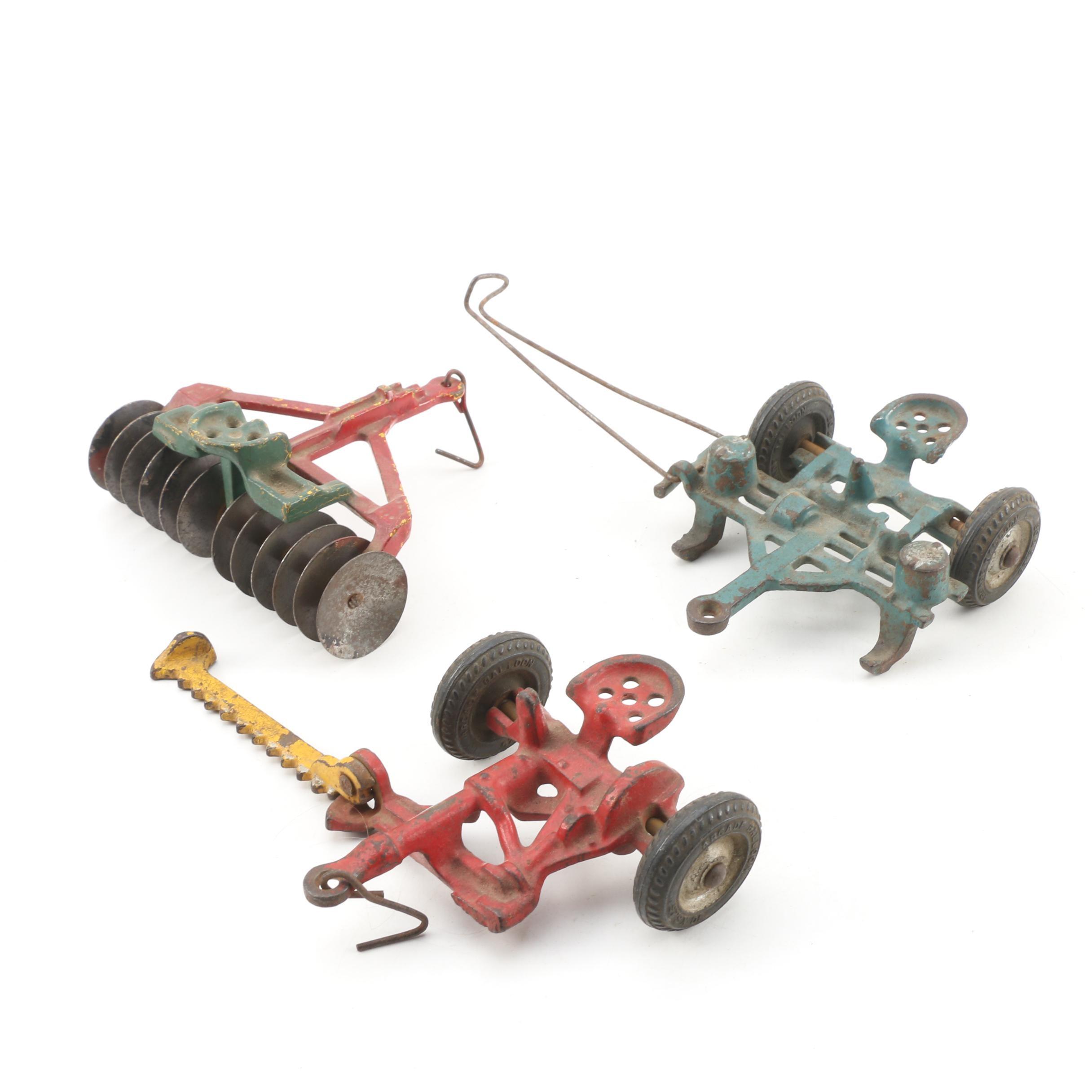 Cast Metal Toy Farm Machinery by Arcade