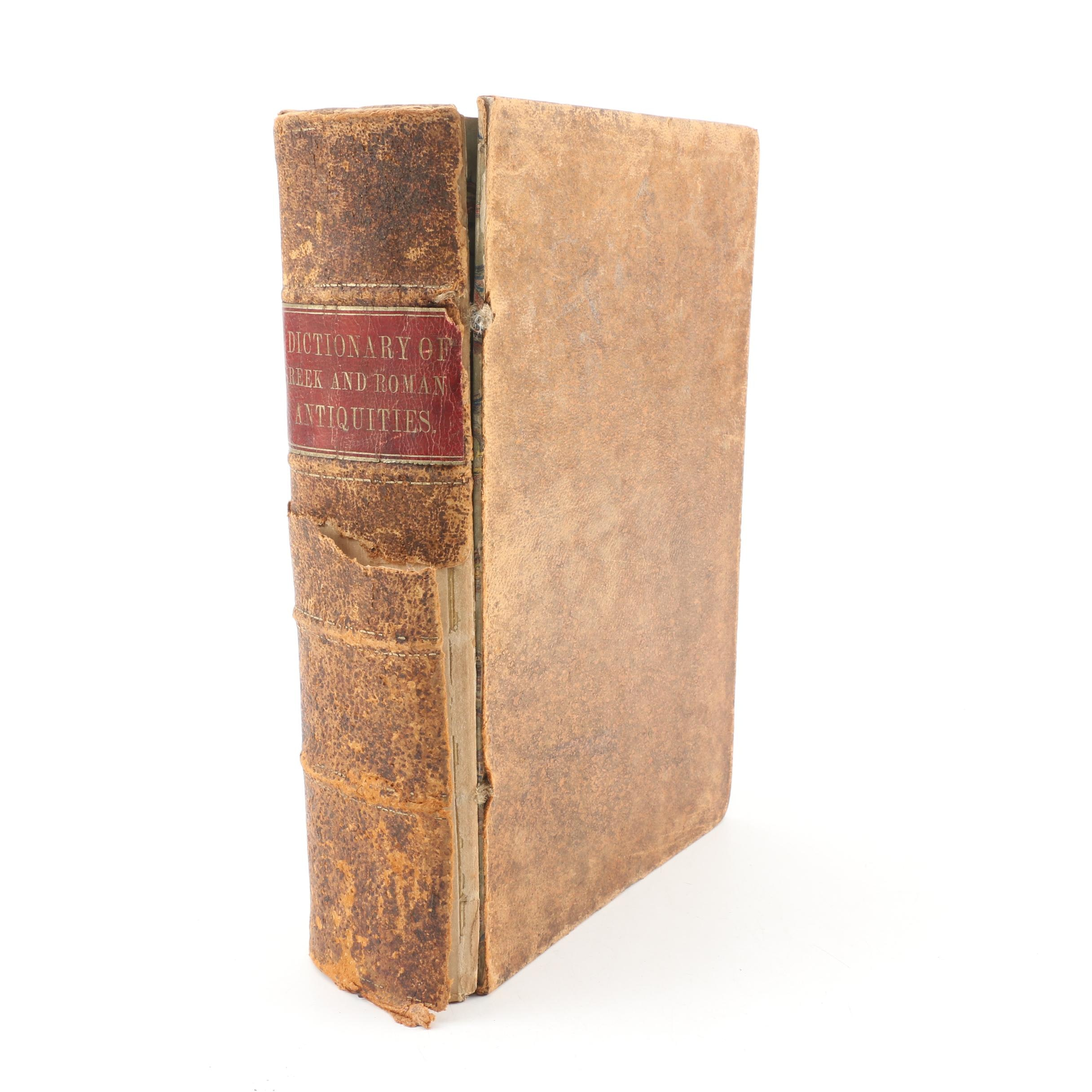 """1854 """"A Dictionary of Greek and Roman Antiquities"""""""