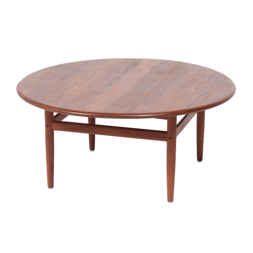 Niels Bach Danish Modern Teak Coffee Table Mid Century Ebth