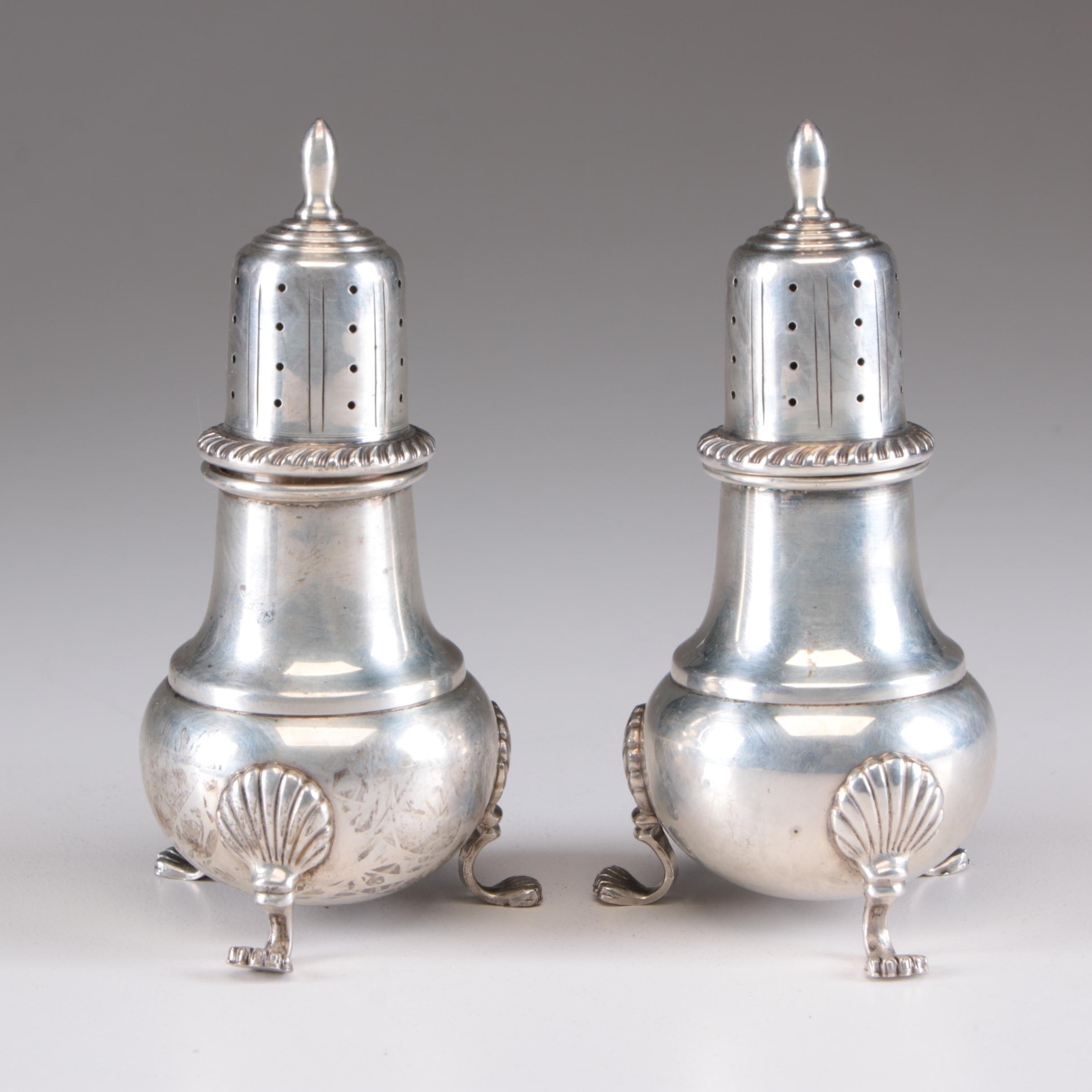 Fisher Silversmiths Sterling Silver Salt and Pepper Shakers, Mid-Century
