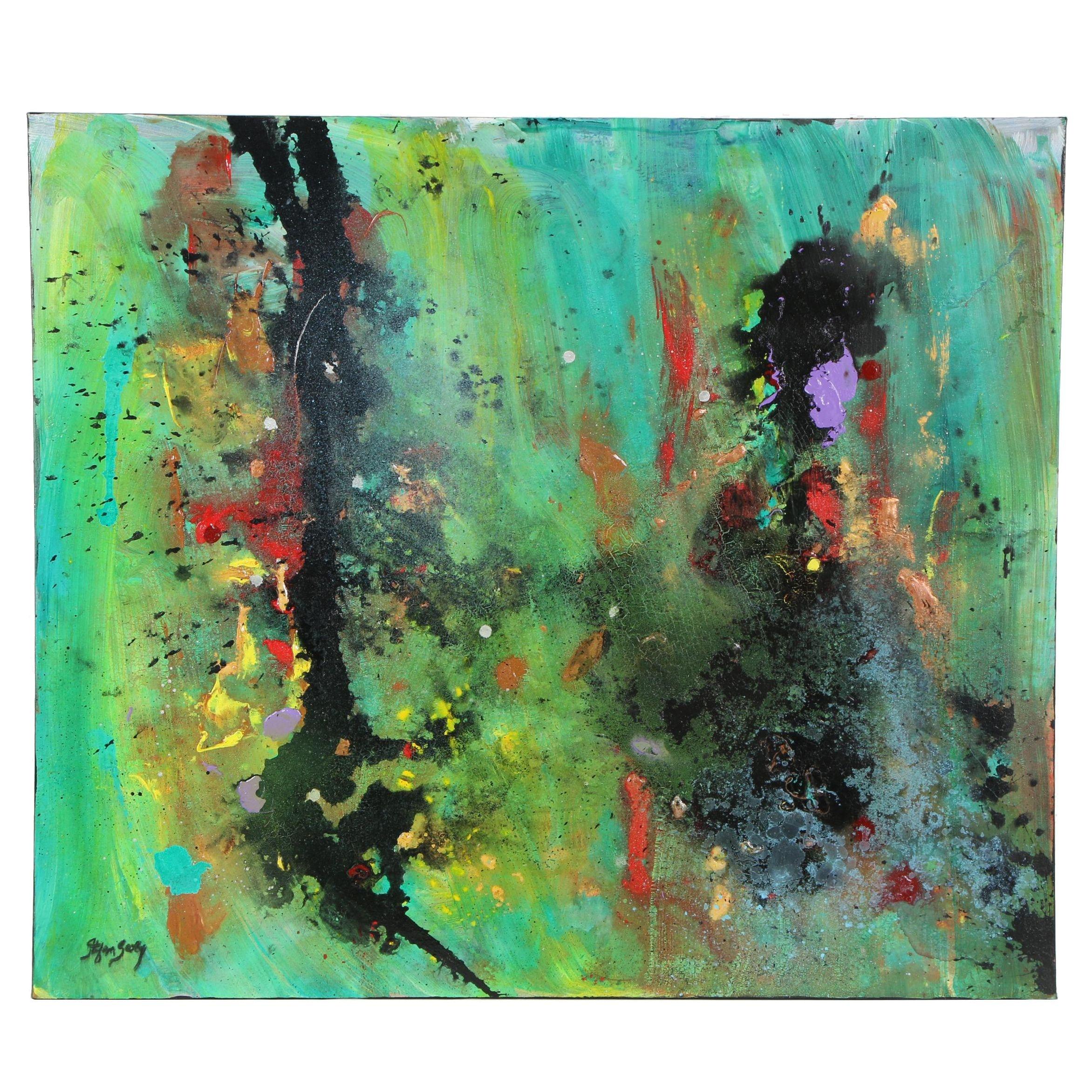"Stefan Georg Acrylic Painting ""Room of Joy"""