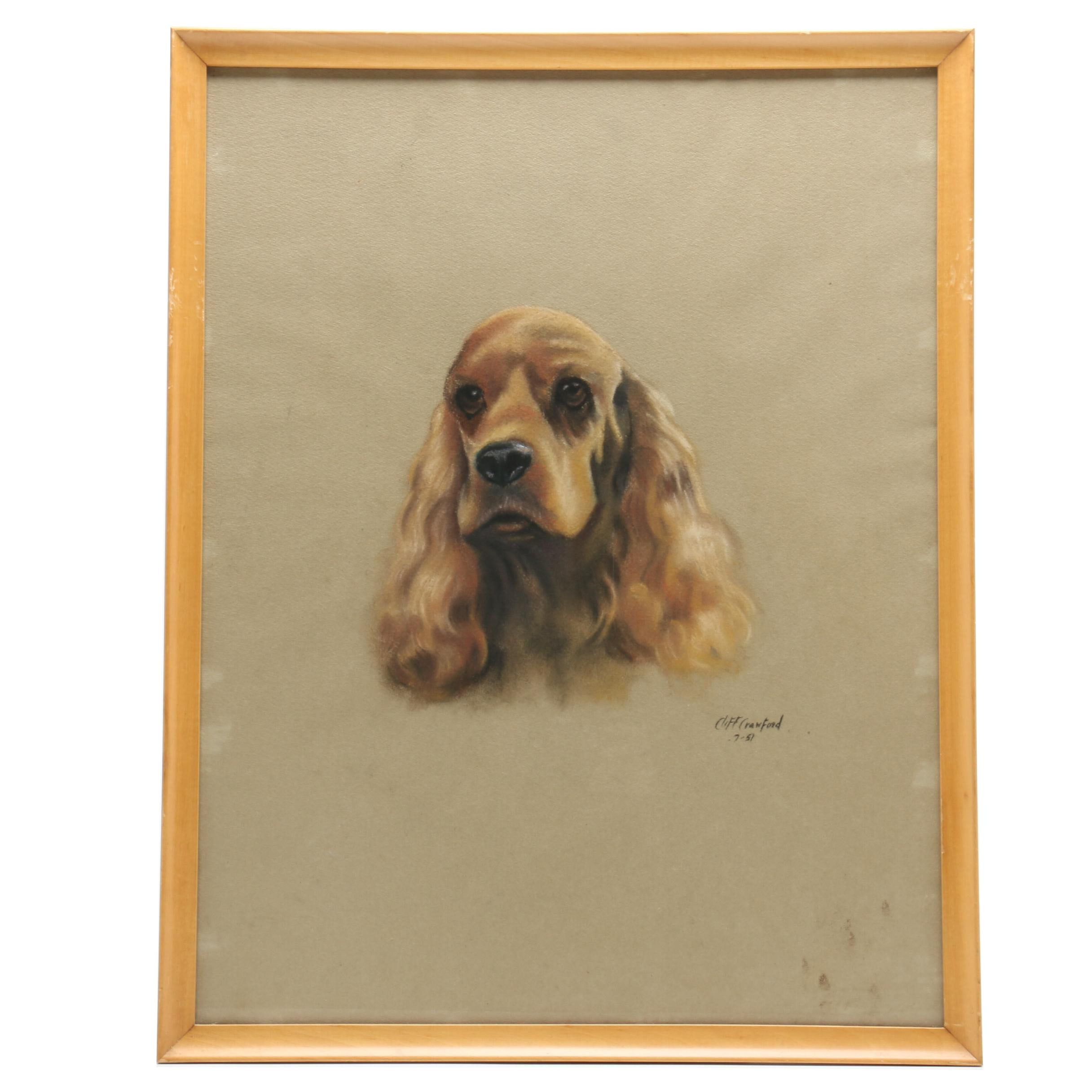 Cliff Crawford Pastel Drawing of Dog