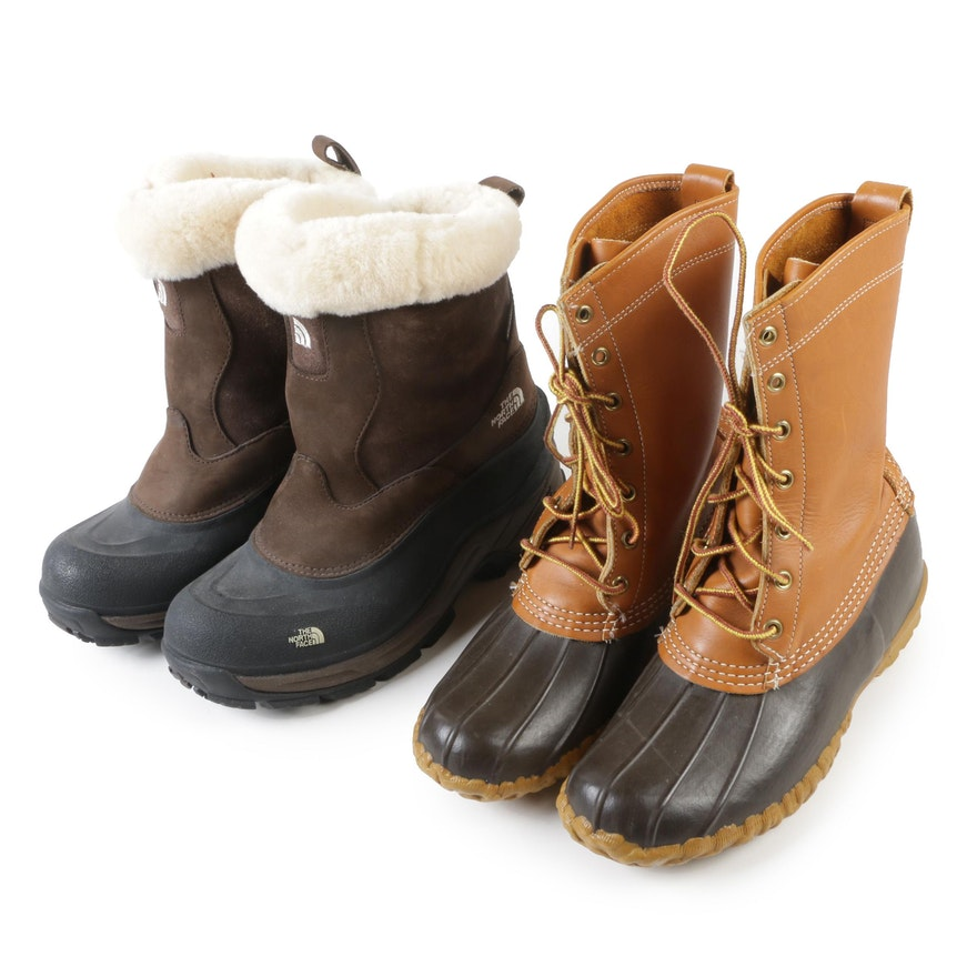 e604d0ca2b1 Women's The North Face Greenland Zip II Boots and L.L. Bean Maine Hunting  Shoes