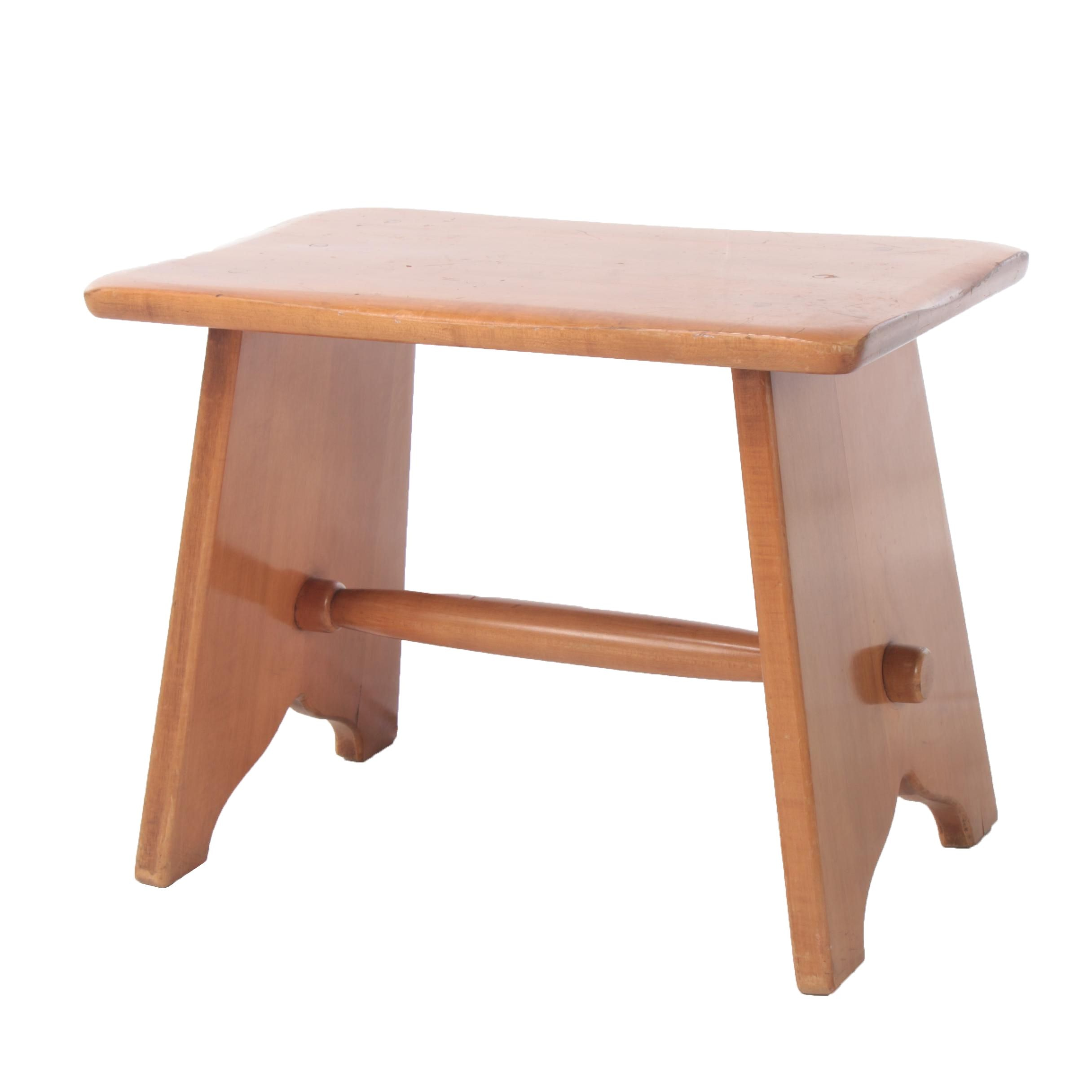 Maple Stool in the Style of Heywood-Wakefield, Mid 20th Century