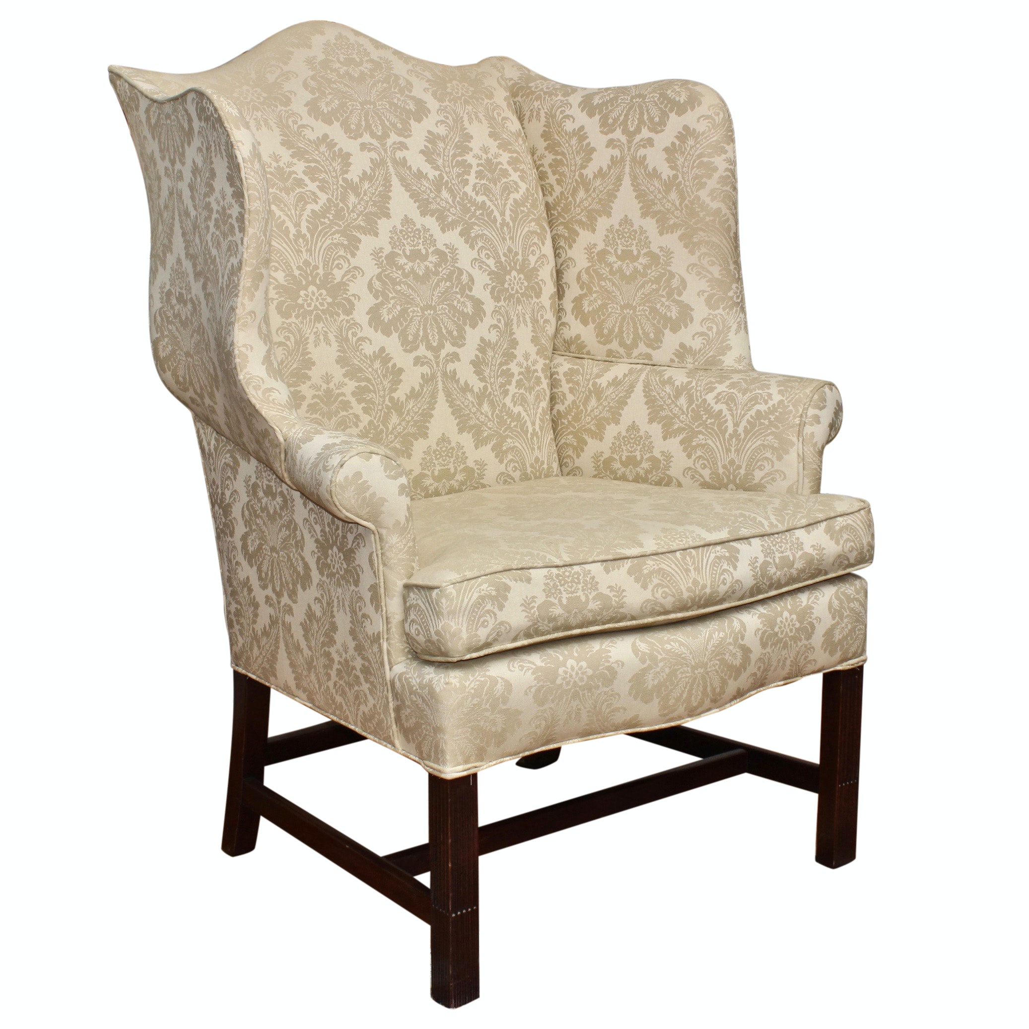 Hickory Chair Company Wingback Chair, Mid 20th Century