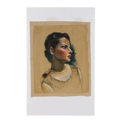 Robert Whitmore Oil Portrait of a Woman