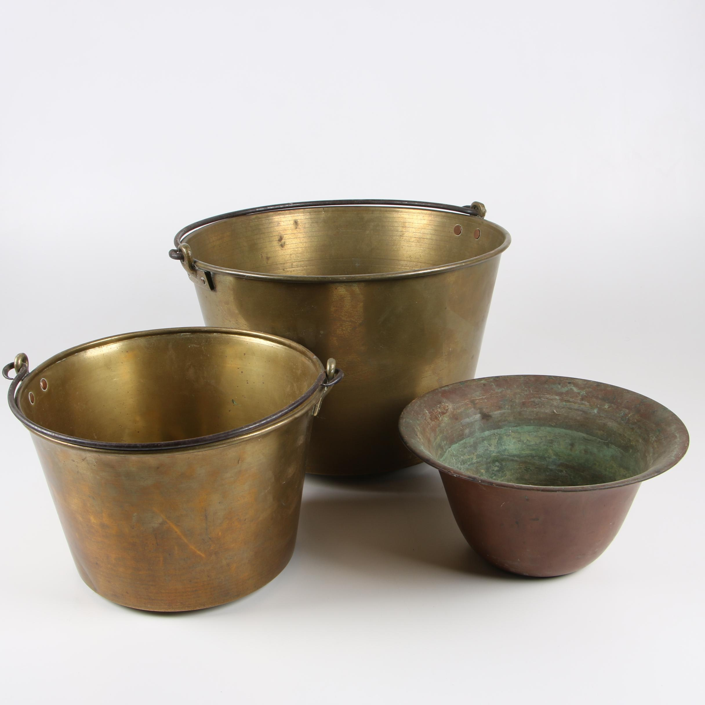 Brass and Copper Pots featuring Hiram W. Hayden
