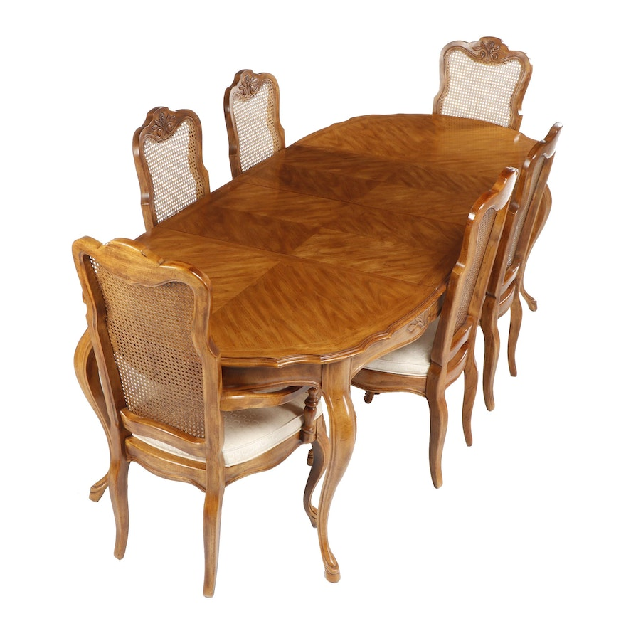 Magnificent Drexel Heritage French Provincial Style Cabernet Dining Table And Chairs Bralicious Painted Fabric Chair Ideas Braliciousco