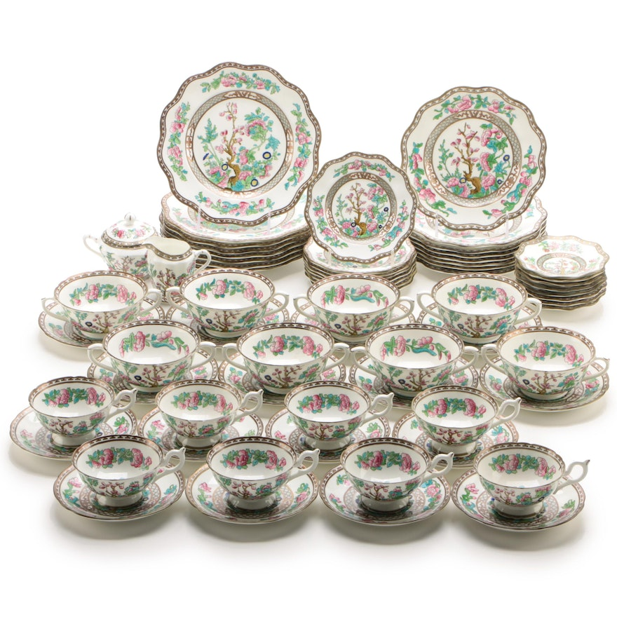 "Coalport ""Indian Tree"" Bone China Luncheon Service for Eight"