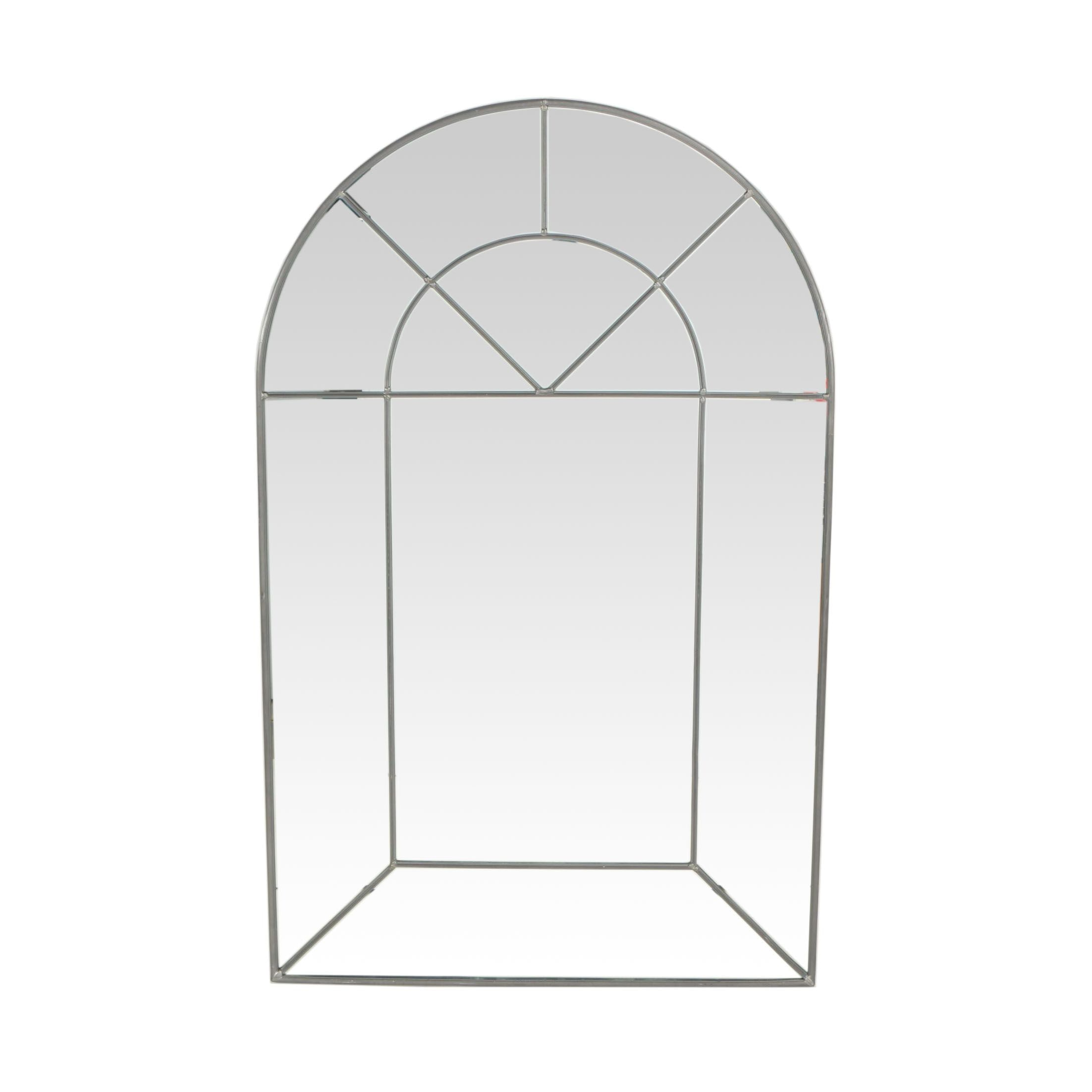 """Carvers' Guild of Groton, Massachusetts """"Colonial Arch"""" Leaded Glass Mirror"""
