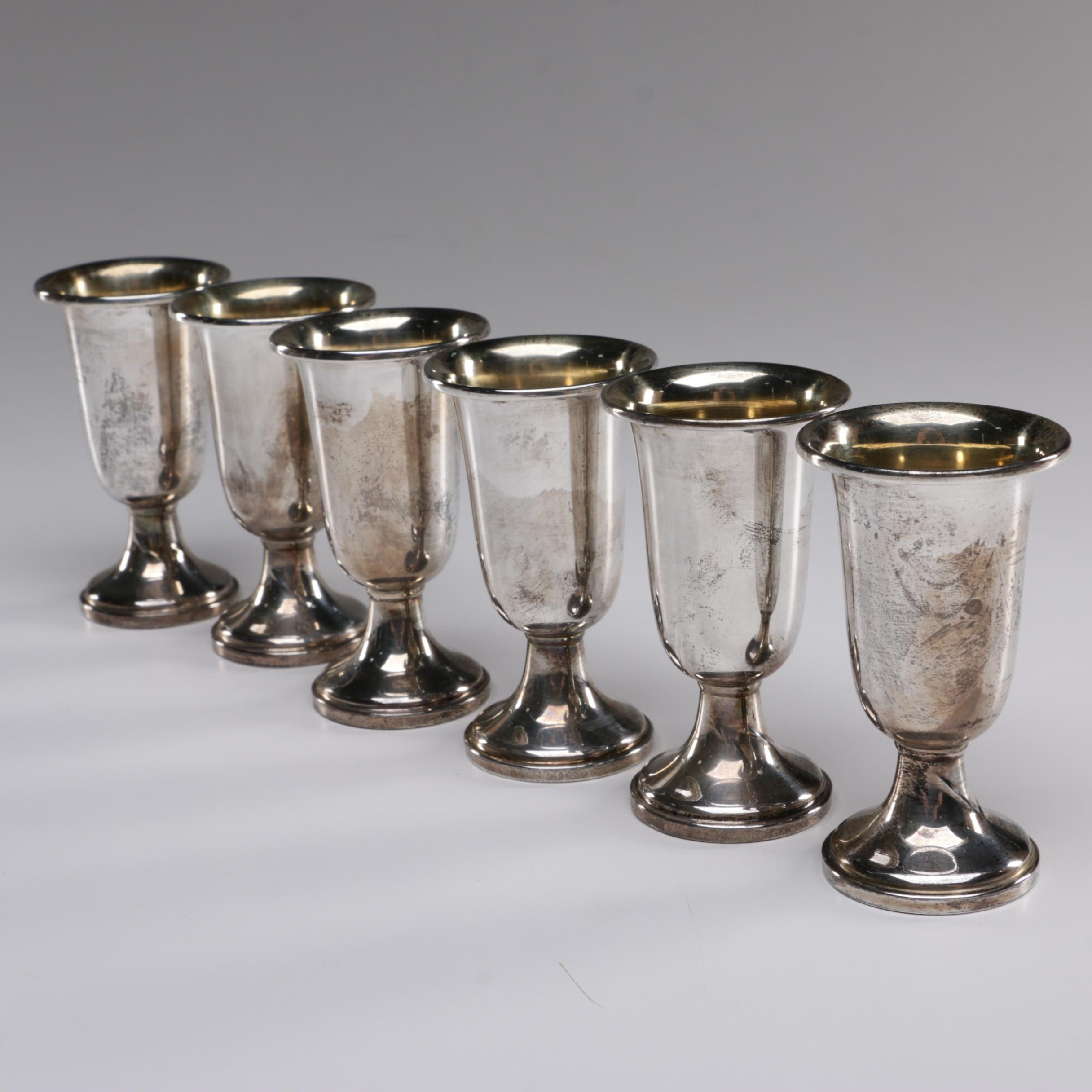 M. Fred Hirsch Co. Weighted Sterling Silver Cordials, c. 1920-1945