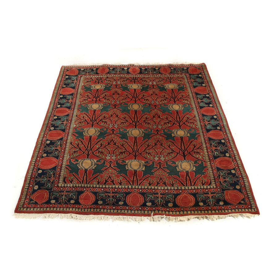 Hand-Knotted Art Deco Style Wool Rug