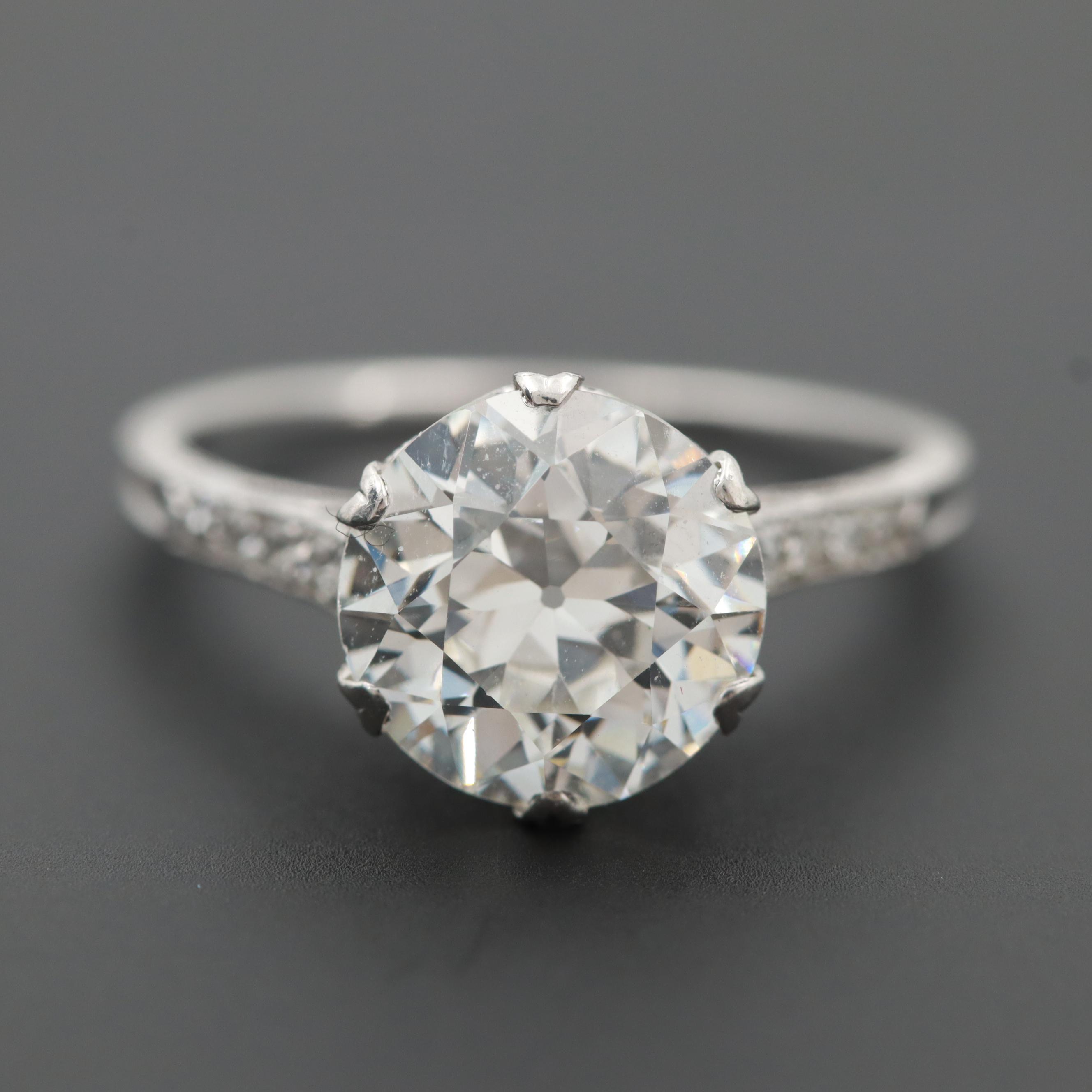 Edwardian Platinum 2.63 CTW Diamond Ring